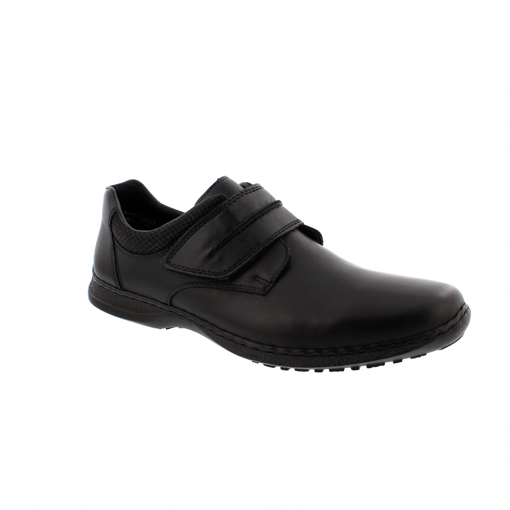 Rieker 04758-00 Black Leather Mens