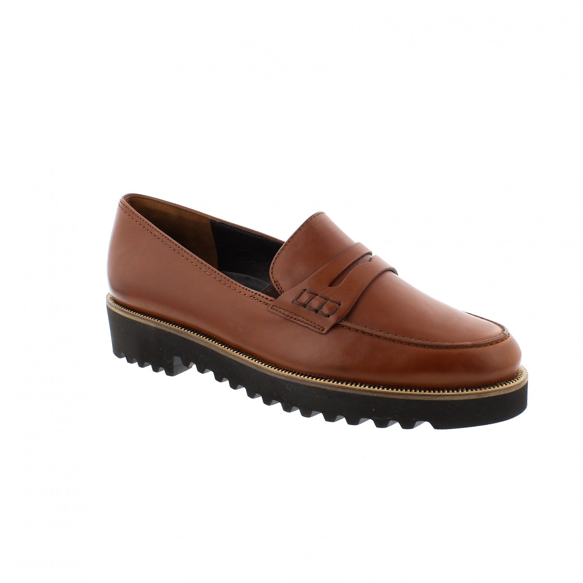 offizieller Preis günstig kaufen wie kauft man Paul Green 1011-125 Tan Leather Slip On Shoes | Rogerson Shoes
