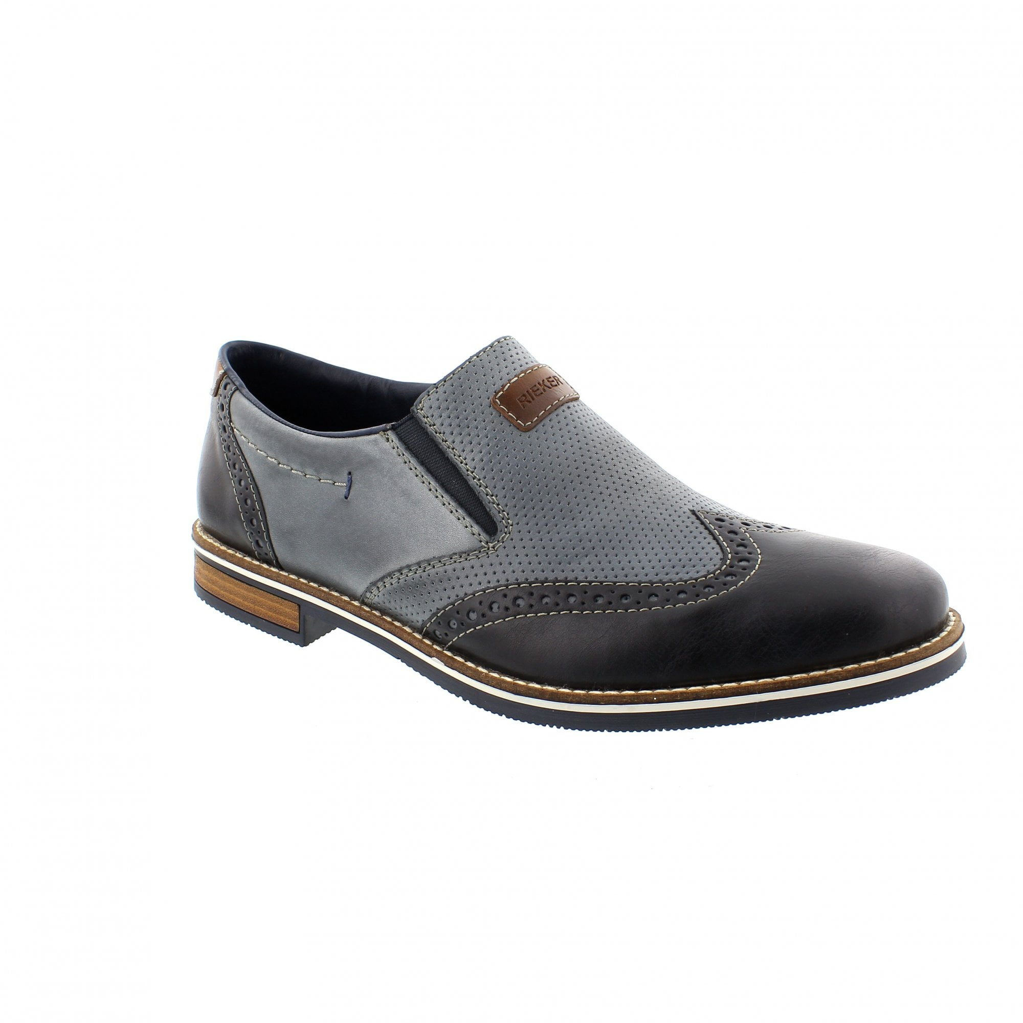 60a32d95b5 Rieker 13560-14 Navy Mens Slip On Shoes