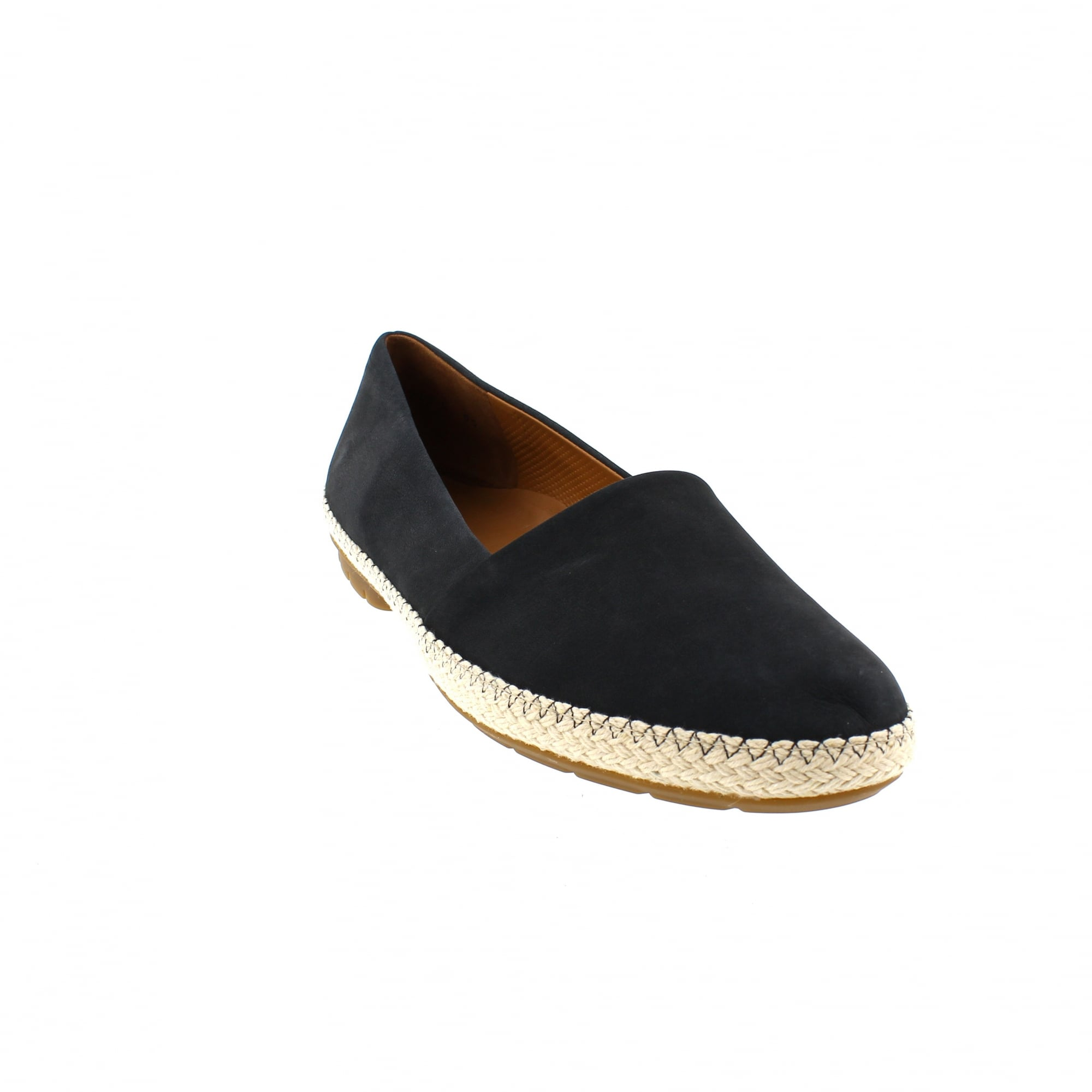 outlet on sale best value on sale Paul Green 1962-012 Navy Nubuck Slip On Shoes   Rogerson Shoes