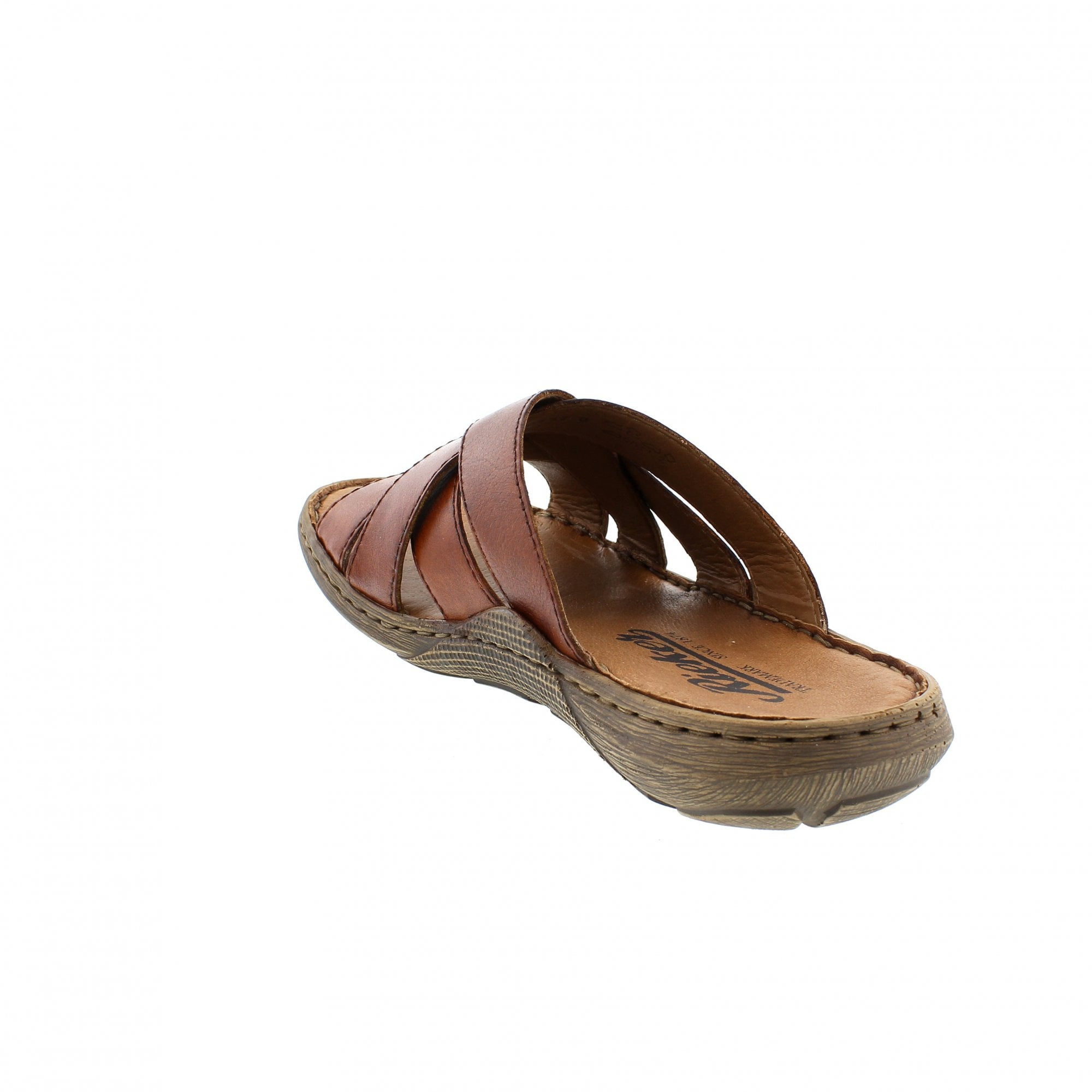 2cf82a1ccf4e Rieker 22098-24 Tan Leather Mens Mule Sandals