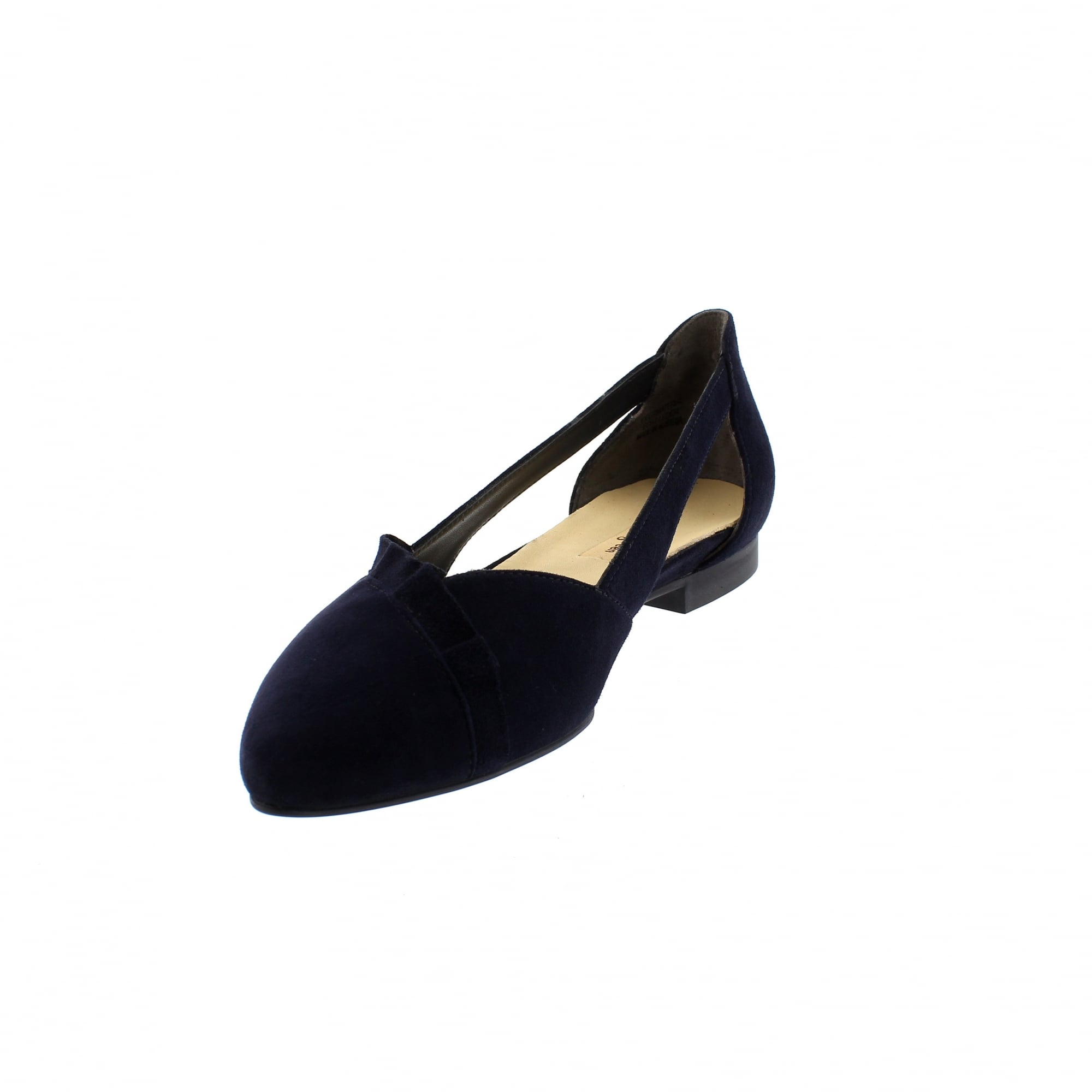 Paul Green 2313 012 Navy Suede Womens Pumps | Rogerson Shoes