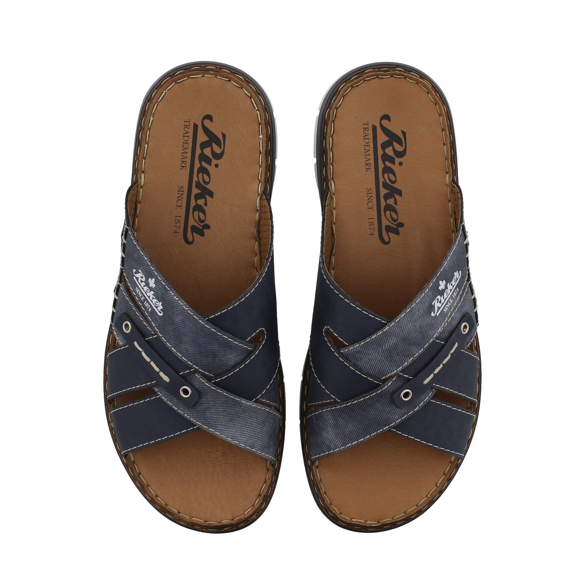 Rieker 25199-14 Navy Mens Mule Sandals