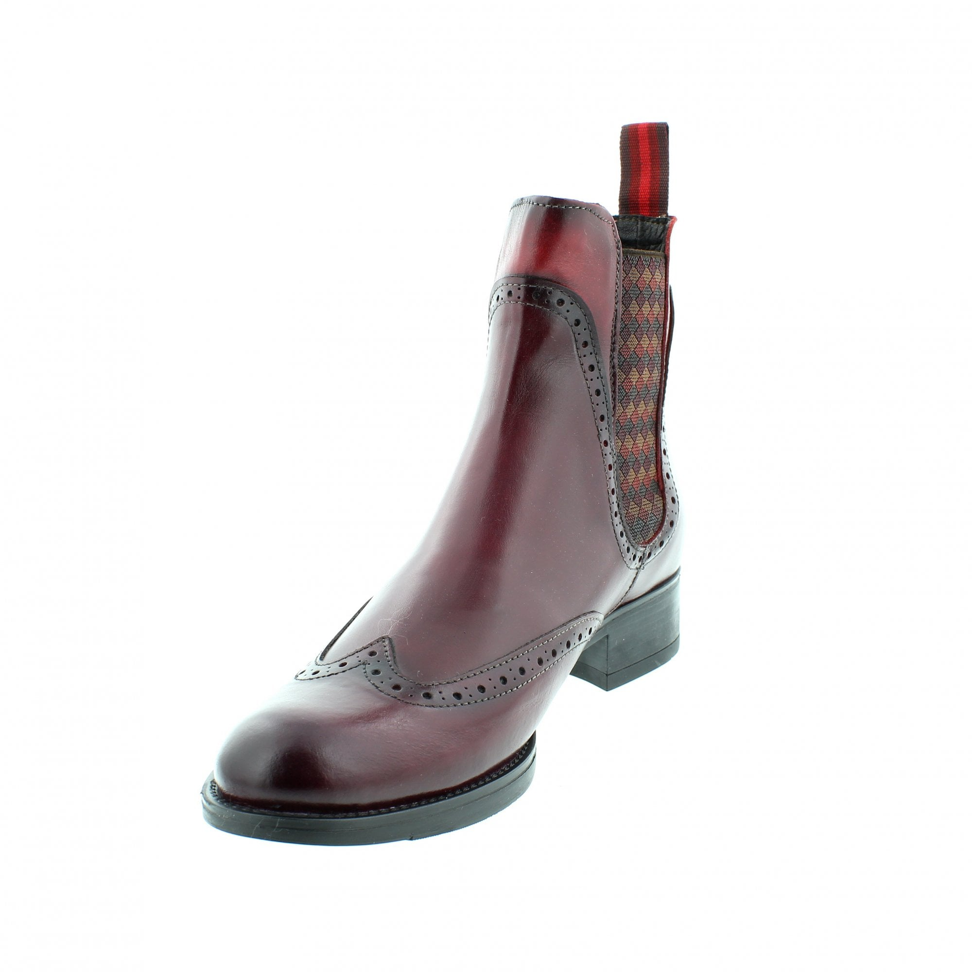 a4b88bc0836a07 Rogerson 4310M-V60 Burgundy Red Womens Ankle Boots