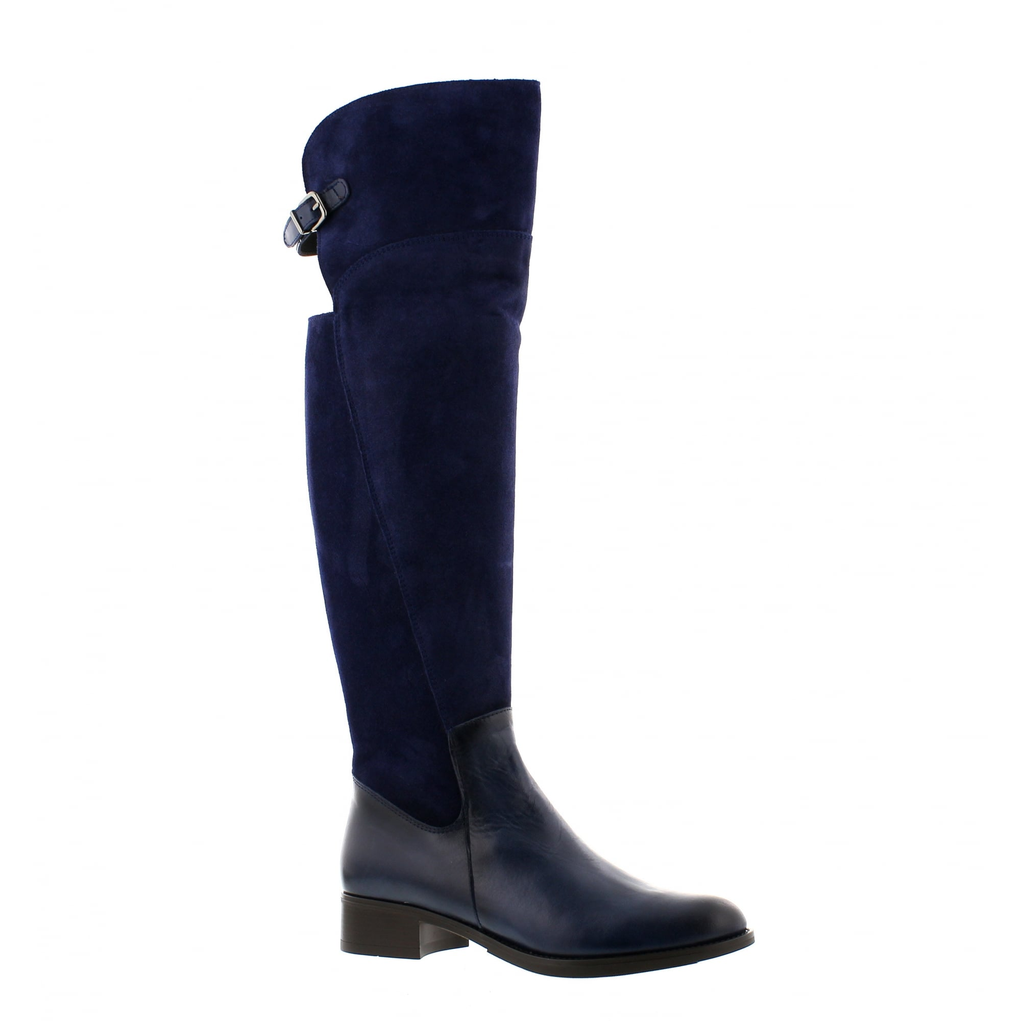 Rogerson 4312M-v20 Womens Navy Suede