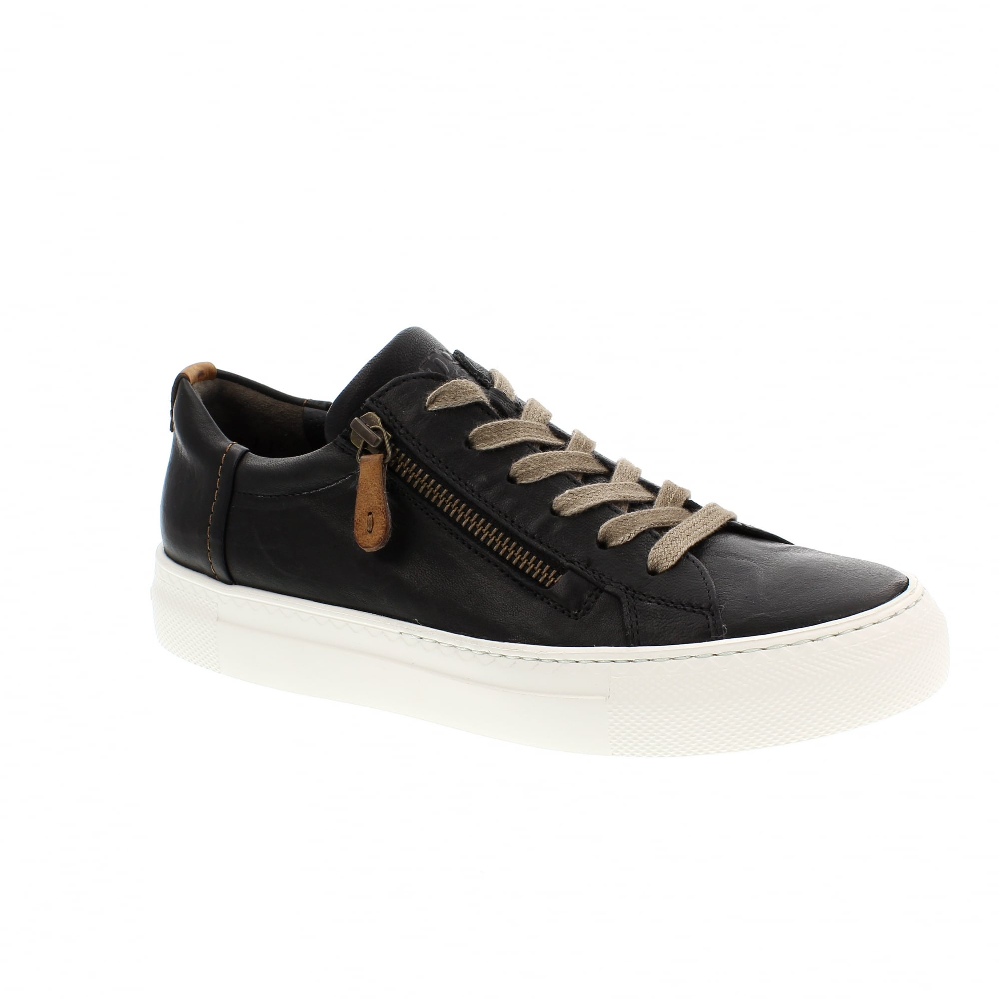 big discount factory price online store Paul Green 4512-081 Black/Tan Womens Trainers | Rogerson Shoes