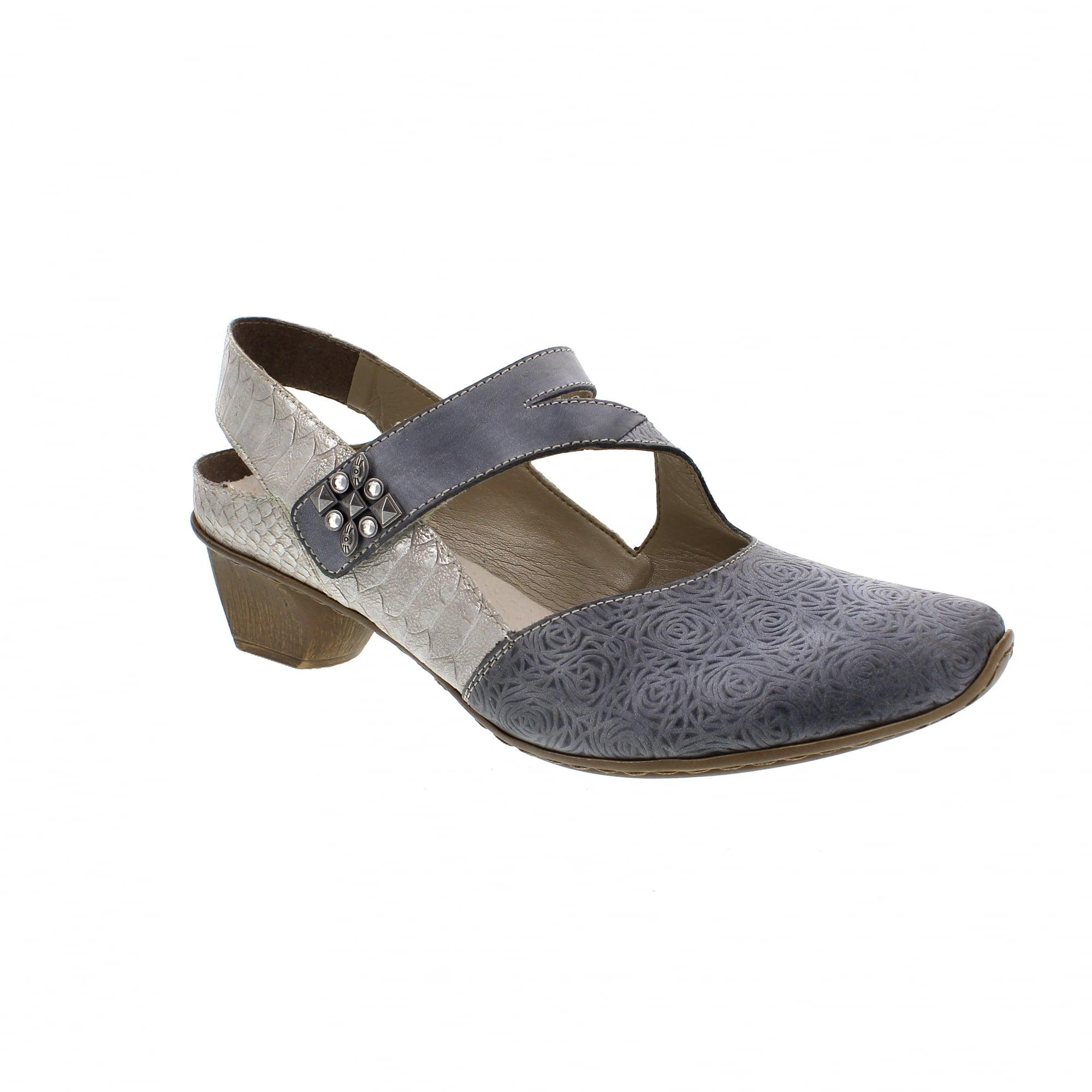 dc8101660a Rieker 49770-14 Denim Grey Womens Sandals