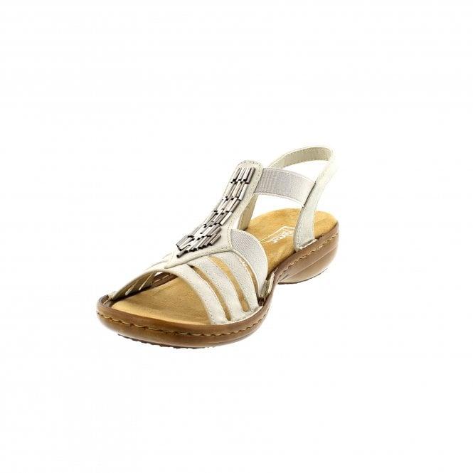 4e35988274b9 Rieker 60800-80 Off White Womens Sandals