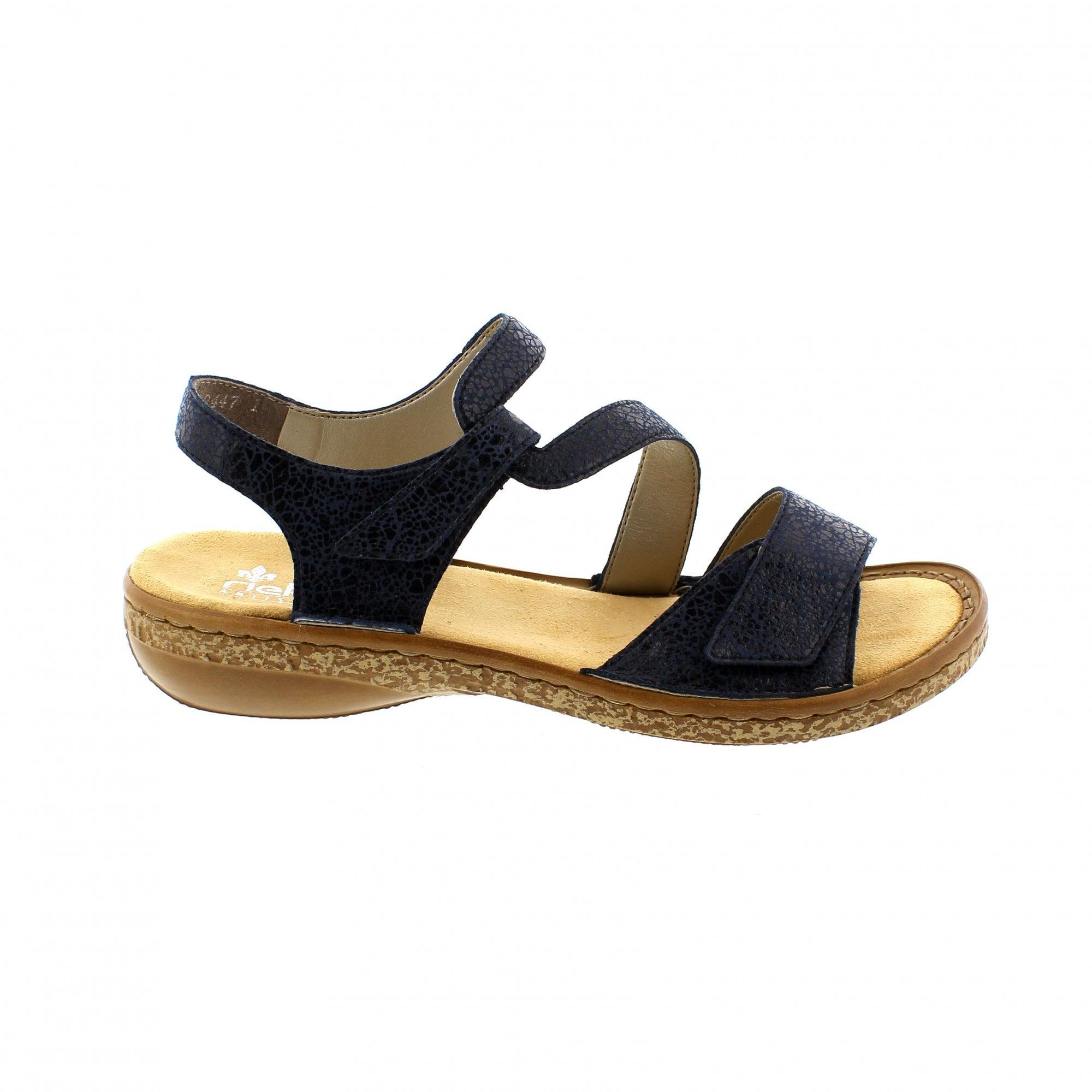 Rieker 628J1-14 Ladies Navy Blue Summer Sandals