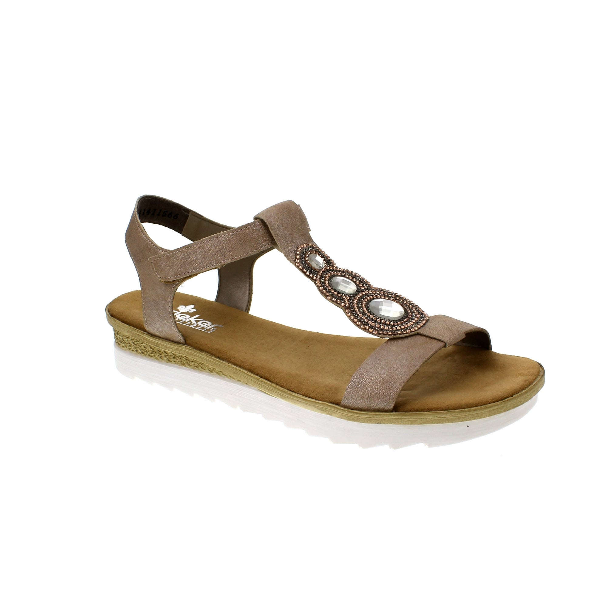f989786e8 Rieker 63184-62 Taupe Womens Sandals
