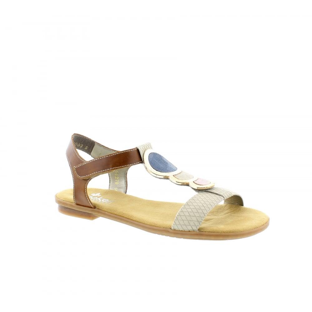 a0e7179ad Rieker 64278-60 Beige Tan Womens Sandals
