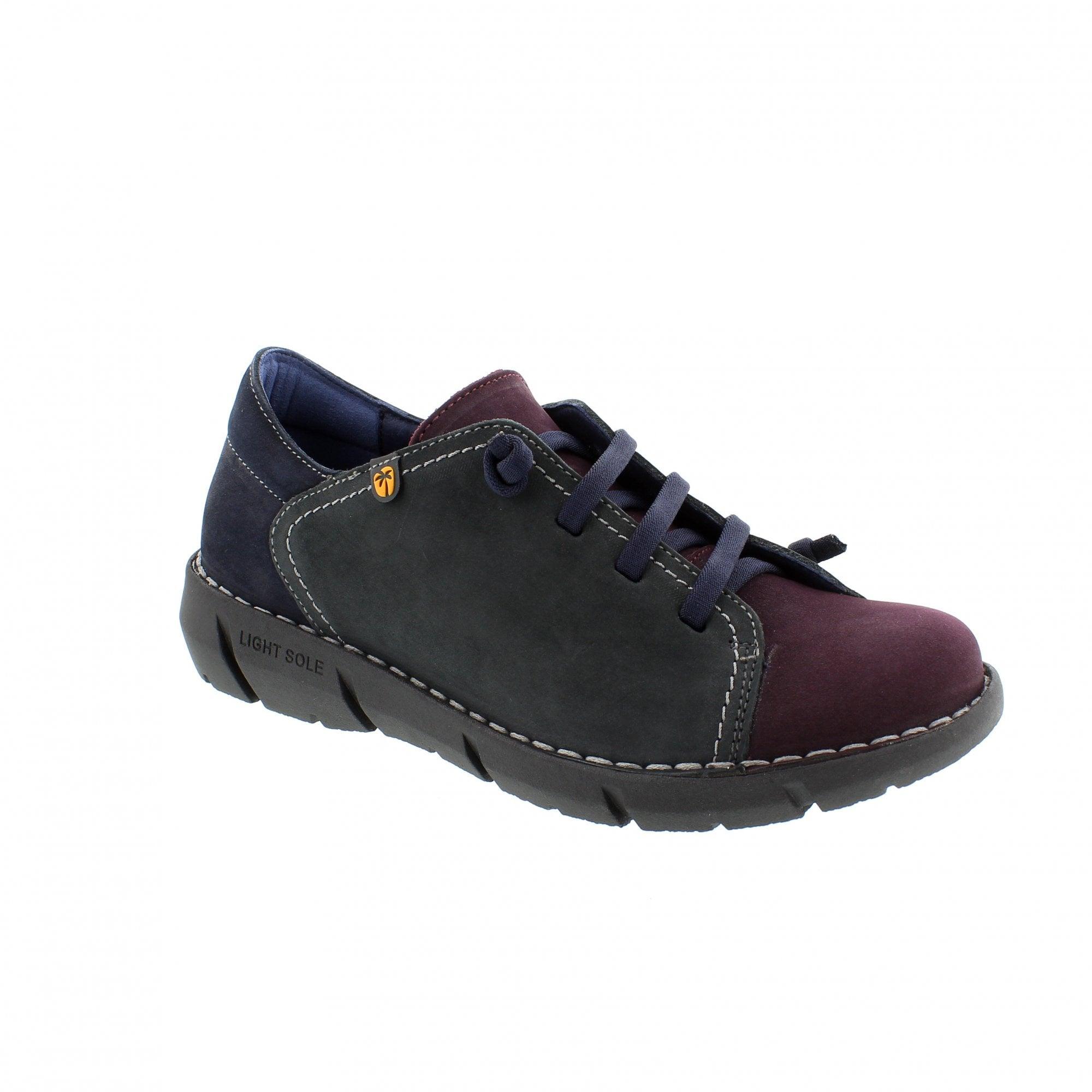 706ecbccd08ca Jungla 6975-v70 Purple/Grey Womens Lace Up Shoes   Rogerson Shoes