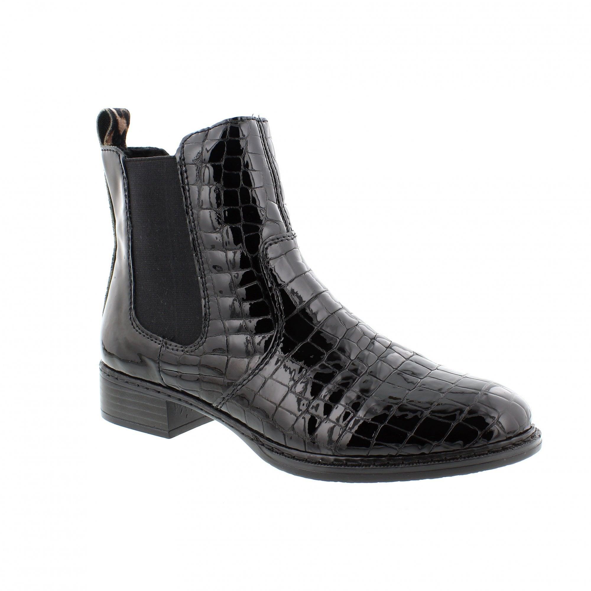 Rieker 73494-00 Patent Croc/Leopard