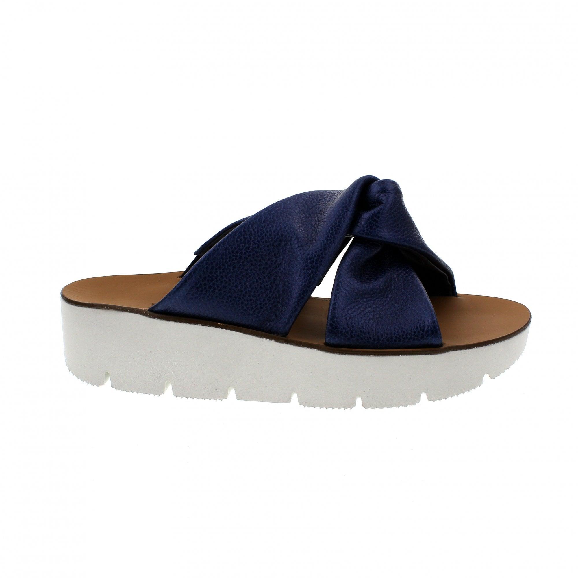 best sneakers 7e1cc 38719 Paul Green 7474-044 Navy Metallic Mule Sandals   Rogerson Shoes