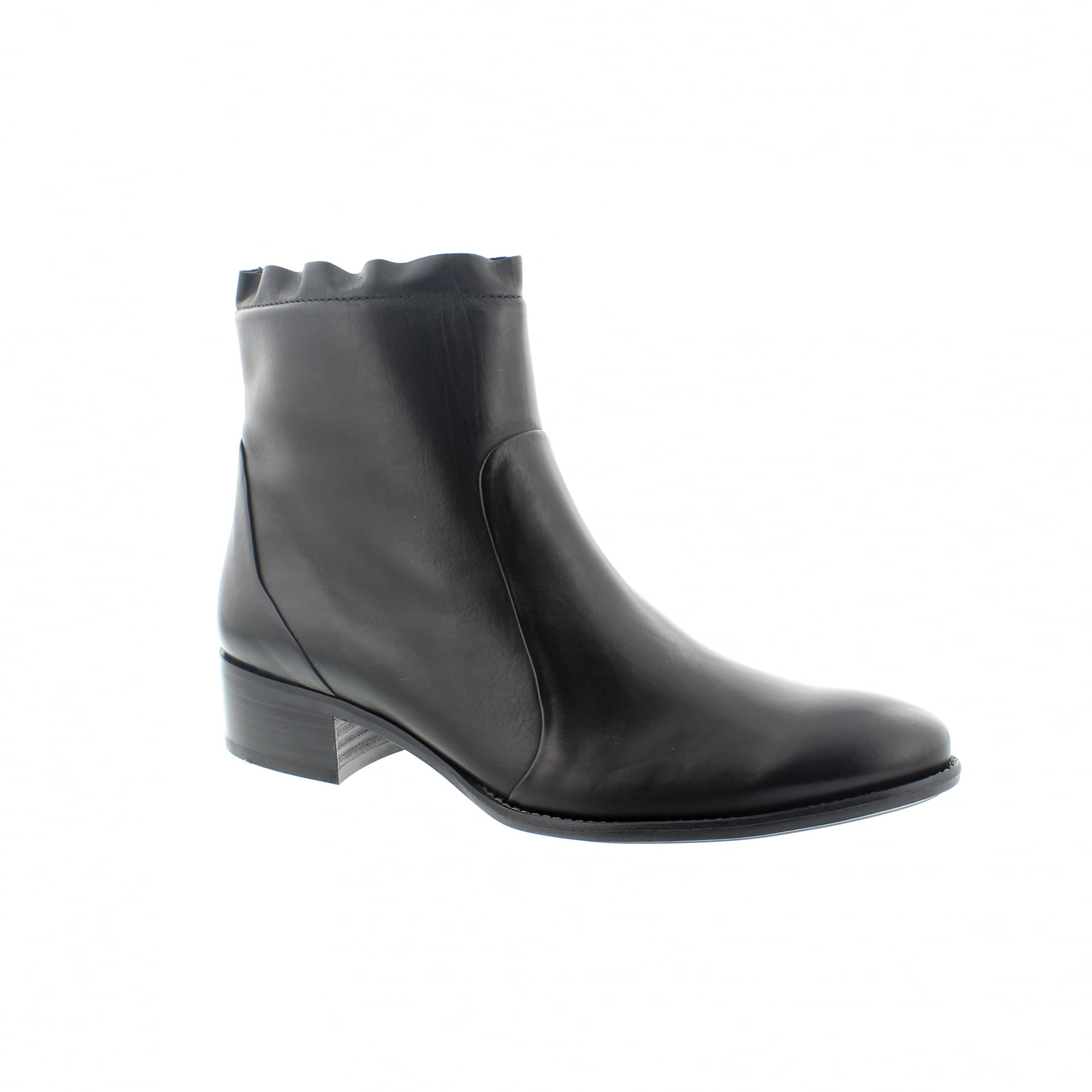 cfe120eb28c Paul Green 8063-023 Black Leather Ankle Boots | Rogerson Shoes