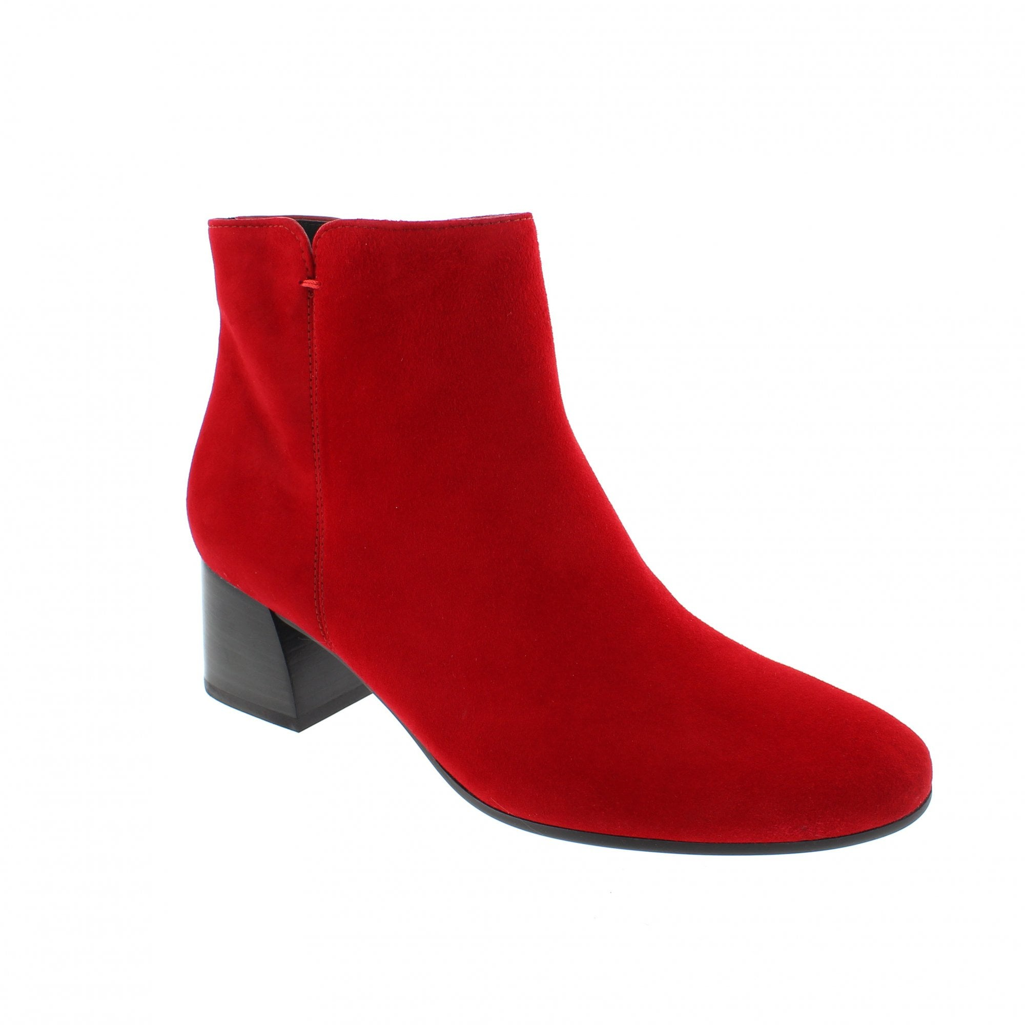 Paul Green 9609-045 Red Suede Womens