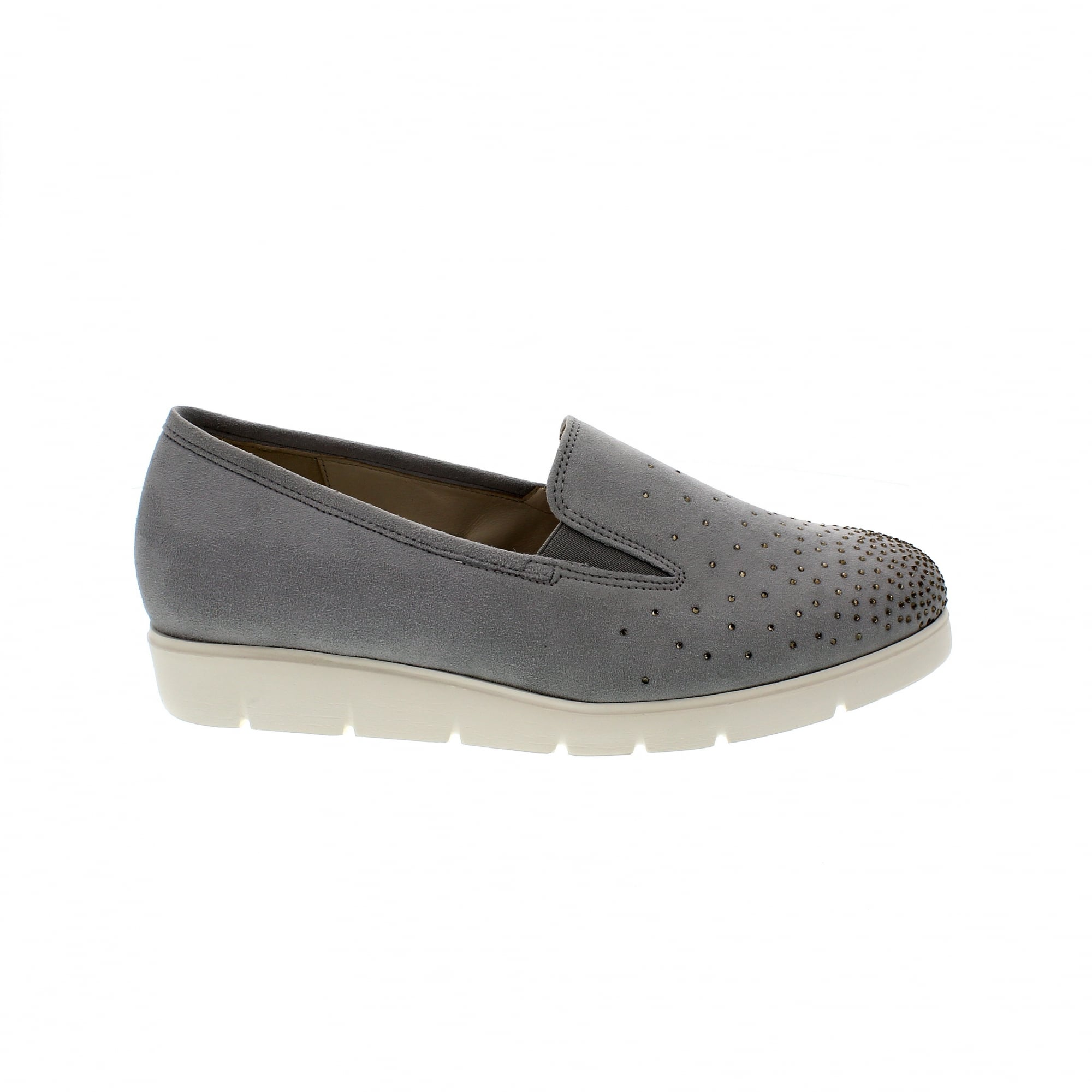 441827ace0f85a Gabor Angela 82-581-40 Grey Suede Slip On Trainers