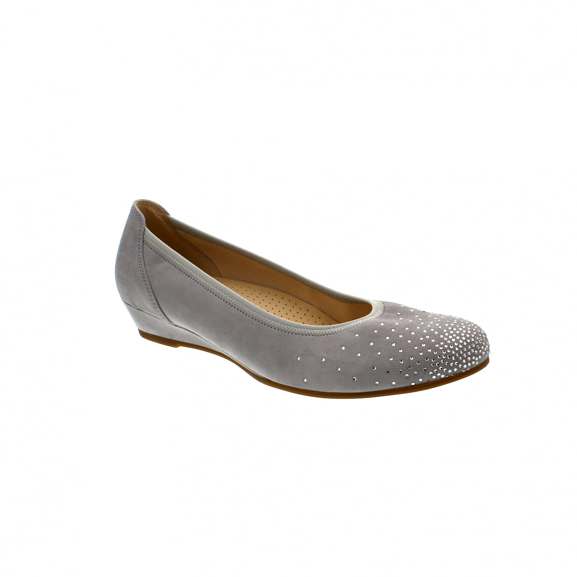 1377547e713c5 Gabor Arya 82-694-40 Grey Suede Womens Wedge Pumps | Rogerson Shoes