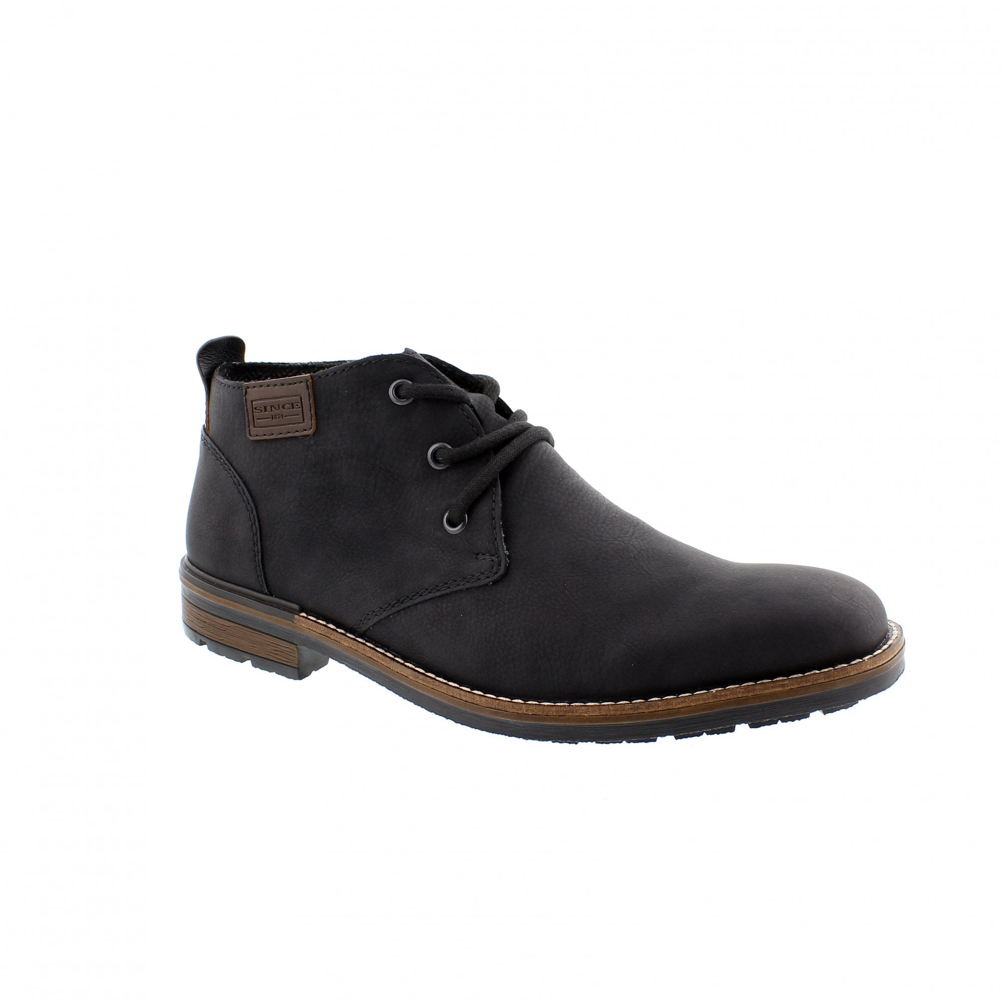 8f7b770642e Rieker B1340-01 Black Mens Ankle Boots | Rogerson Shoes