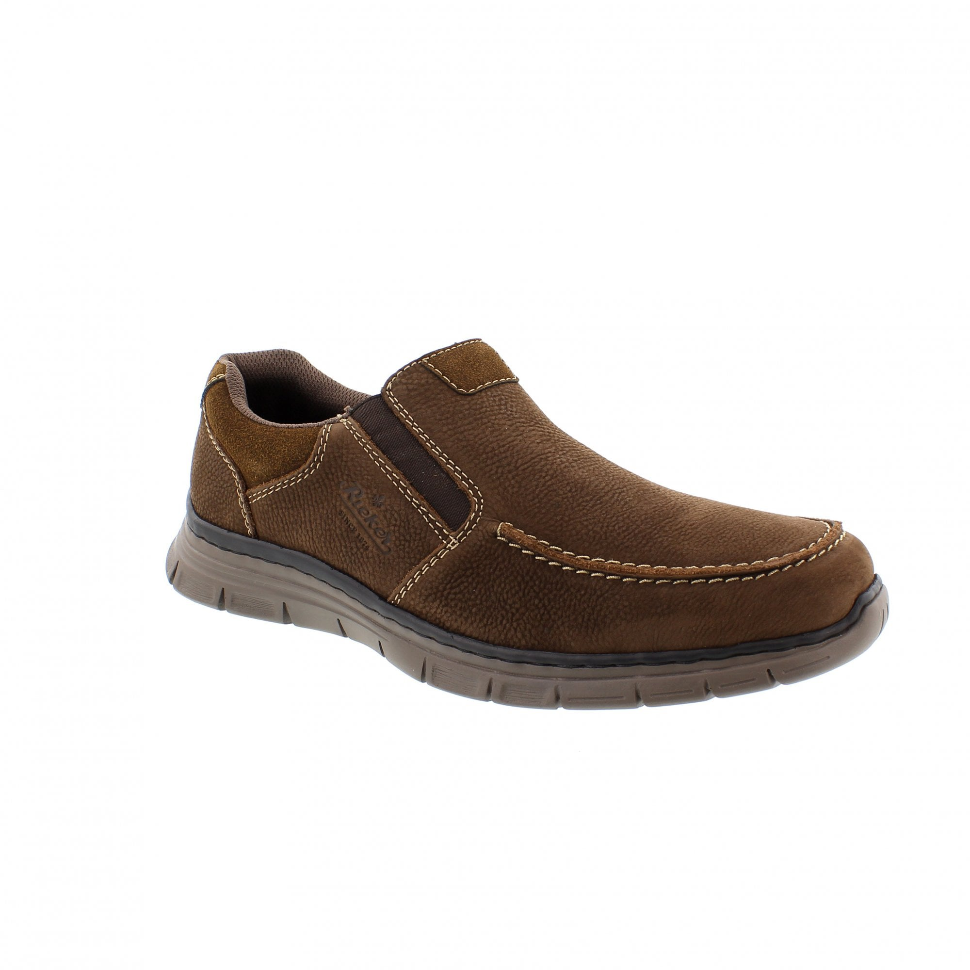 store best shoes autumn shoes Rieker B4869-25 Brown Leather Mens Slip On Shoes | Rogerson Shoes