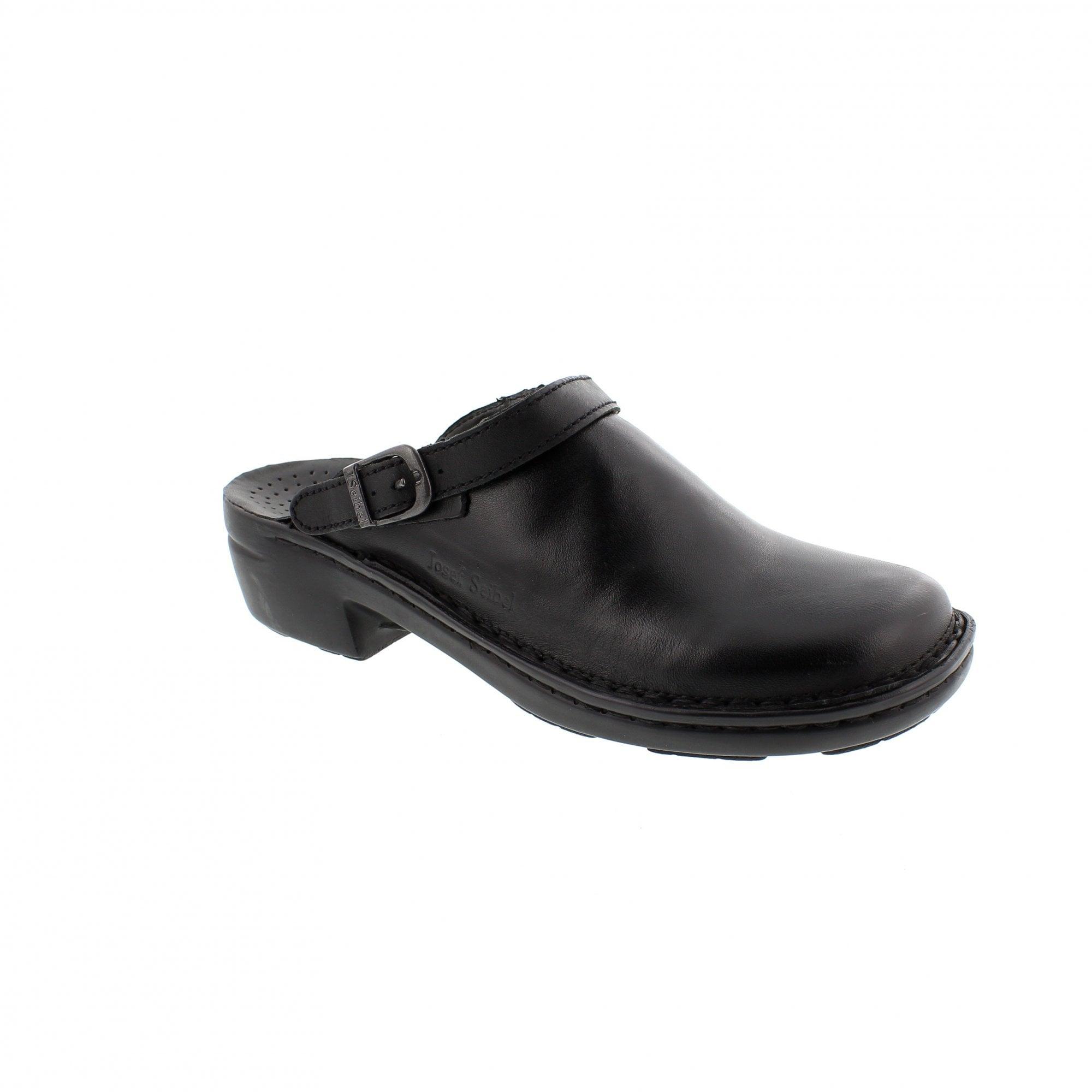 Josef Seibel Betsy 95920-23600 Black Womens Clogs | Rogerson Shoes