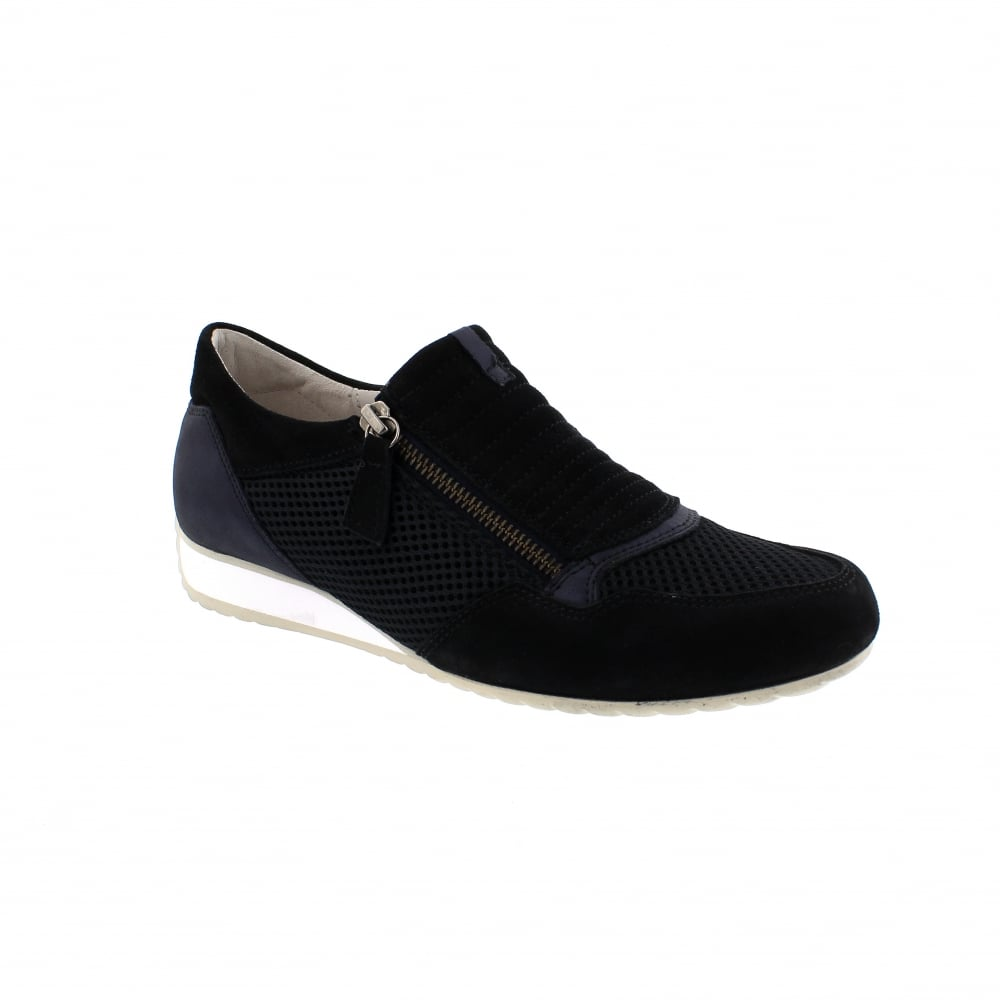 bd84b13e004582 Gabor Brunello 26-352-36 Navy Suede Slip On Trainers