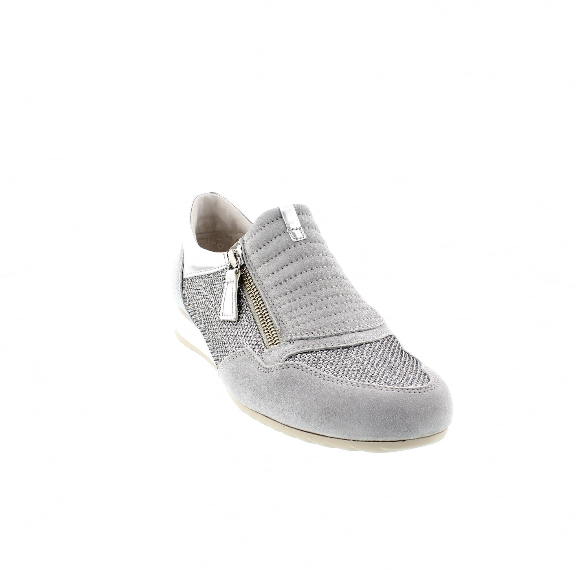 87915767a3fe81 Gabor Brunello 26-352-42 Grey Silver Slip On Trainers