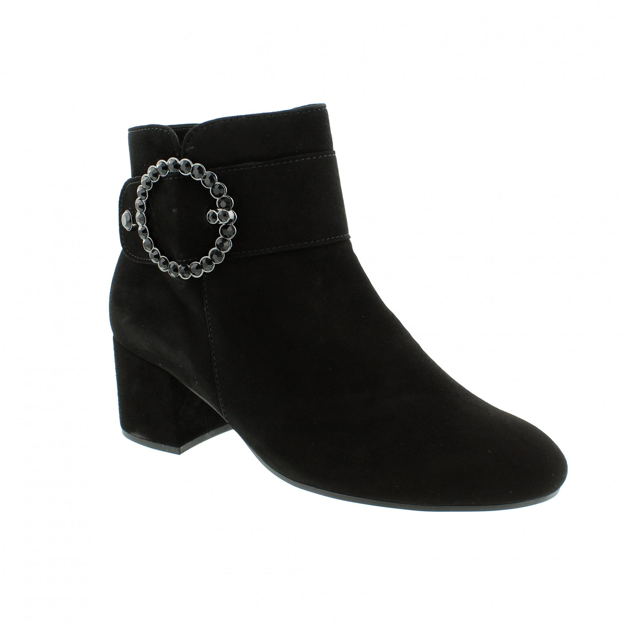 32d325fb4 Gabor Candice 91-694-17 Black Suede Womens Ankle Boots | Rogerson Shoes