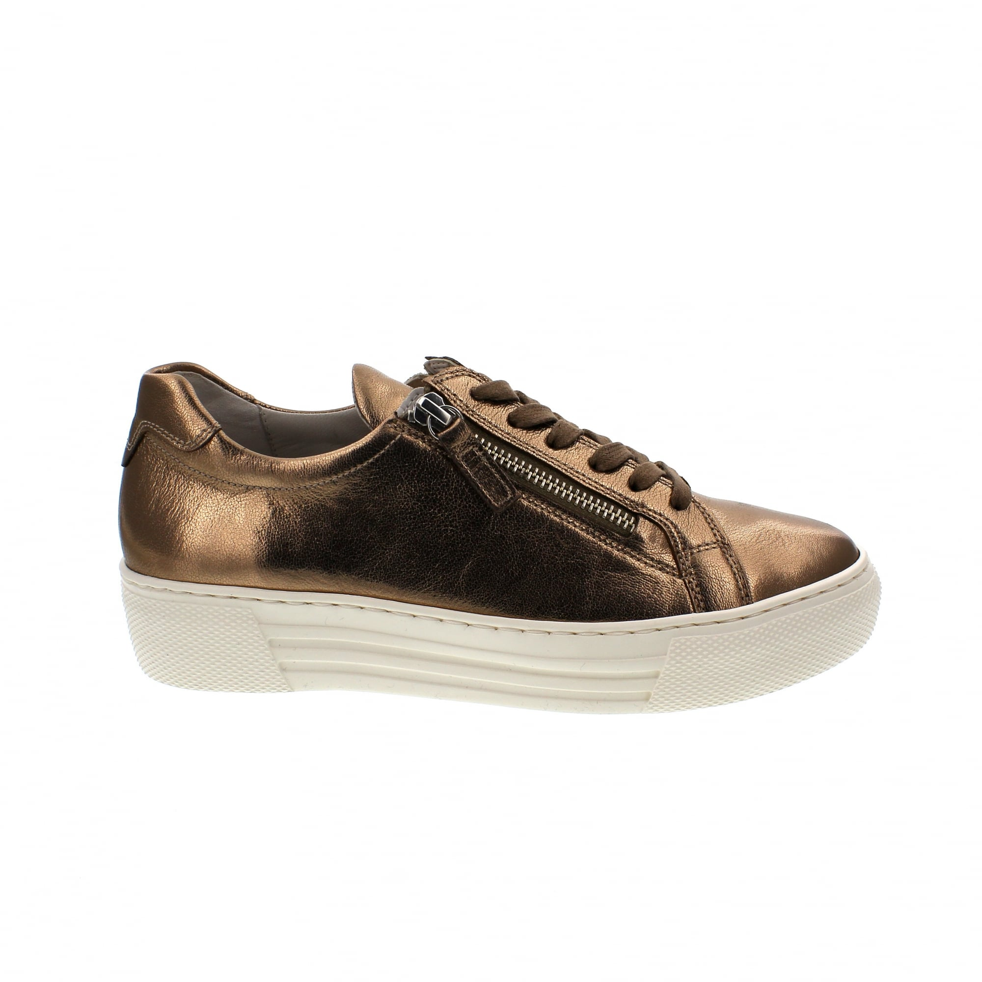 Gabor Emotion 86 468 83 Pewter Leather Womens Trainers