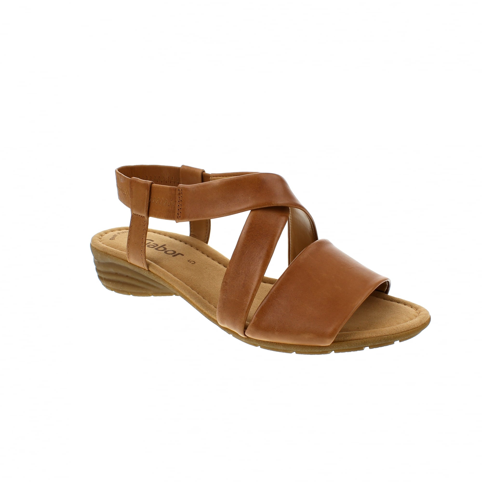 b645621ab0f228 Gabor Ensign 24-550-24 Tan Leather Womens Sandals