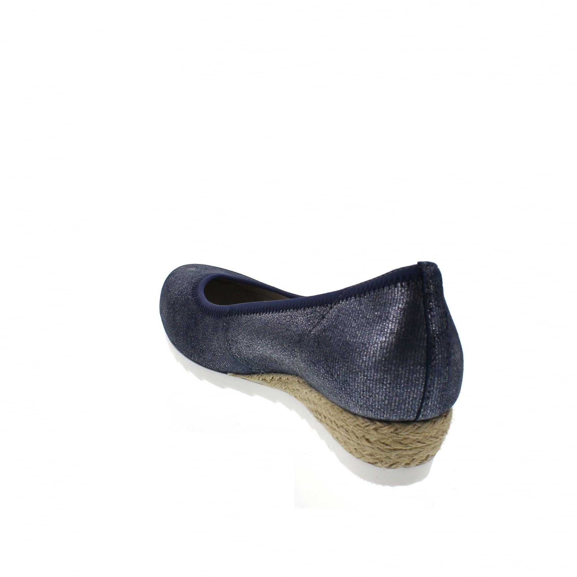 3171ca077 Gabor Epworth 82-641-86 Denim/Silver Womens Wedge Pumps | Rogerson Shoes