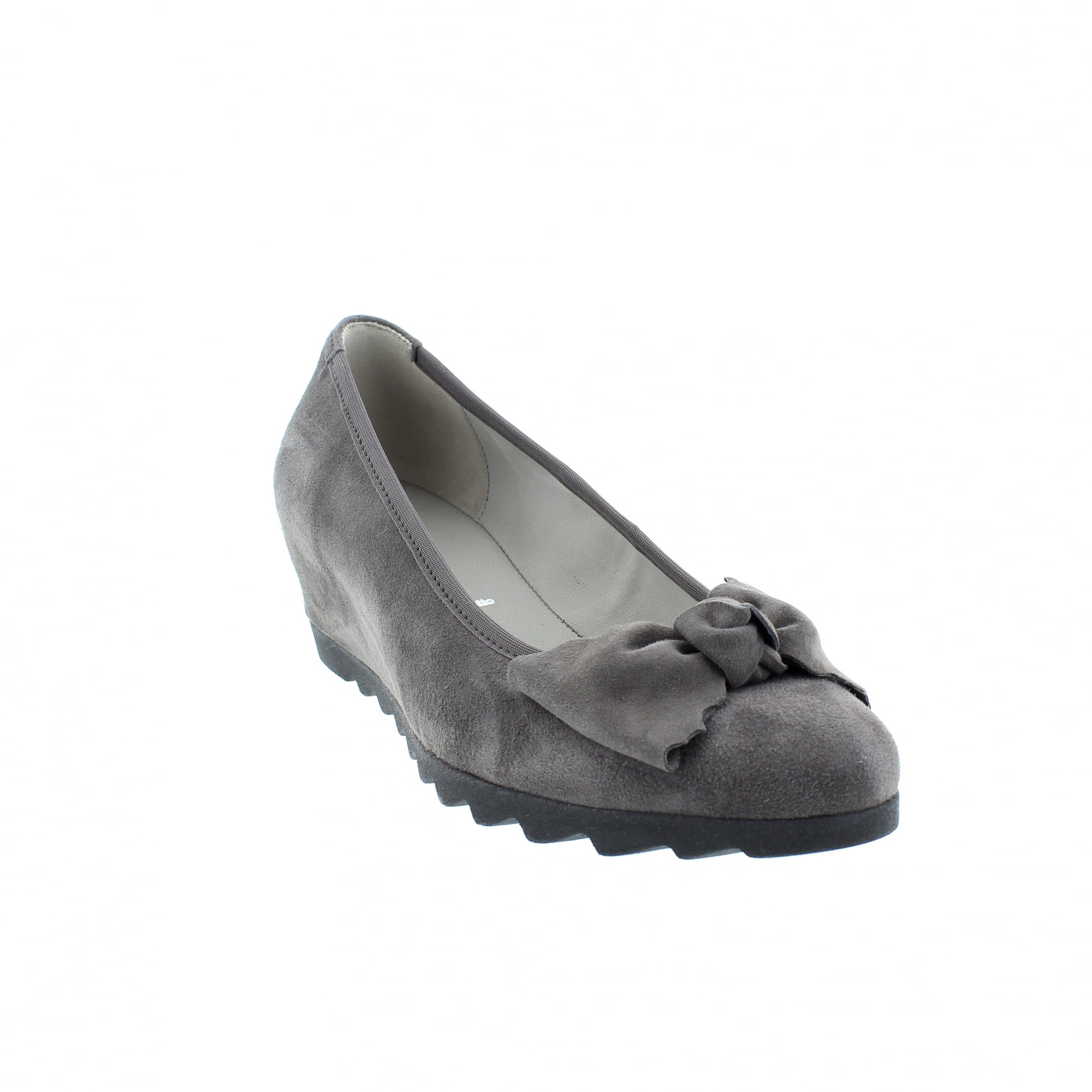 b290f70fba Gabor Gable 75-321-19 Grey Suede Womens Wedge Pumps | Rogerson Shoes