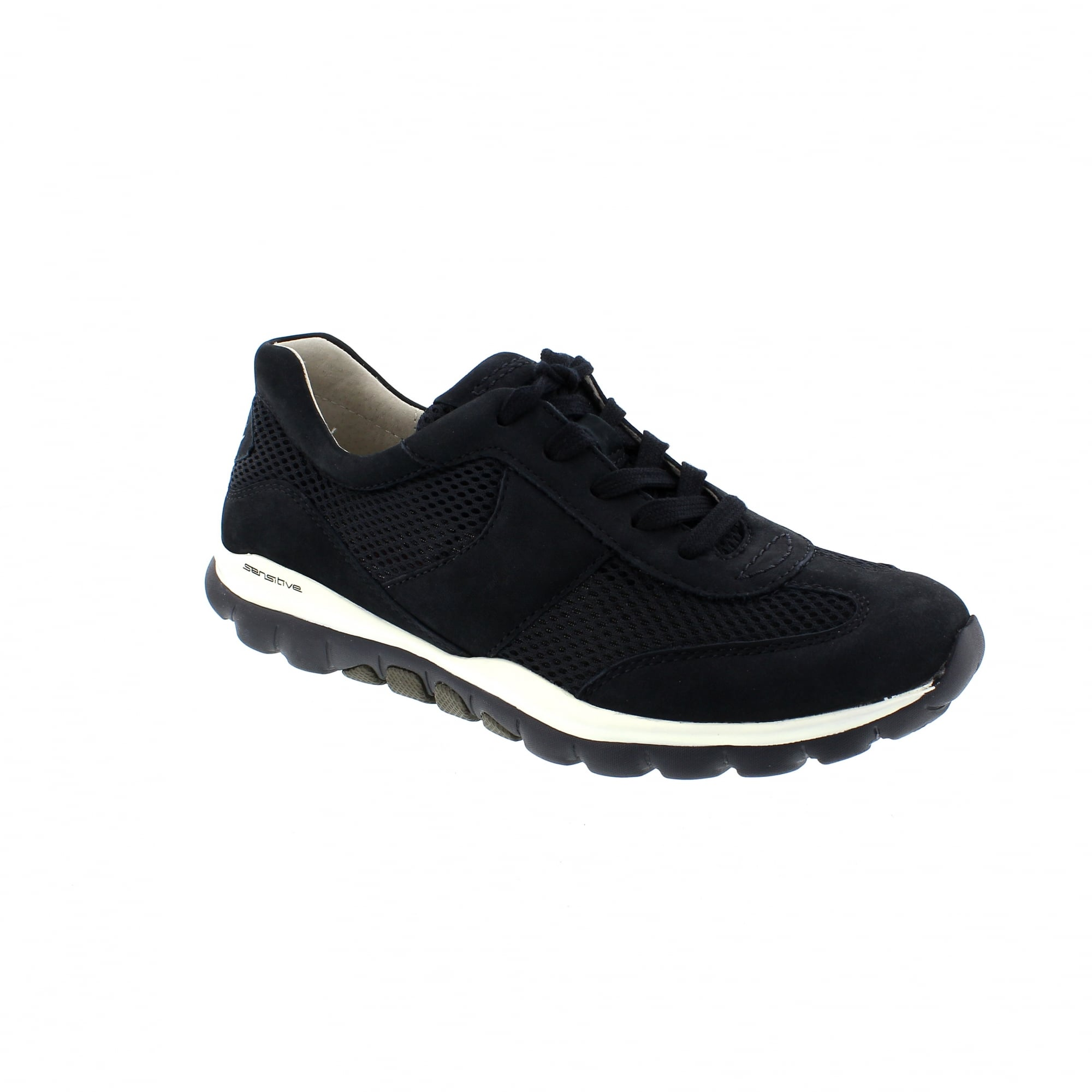 dd91d25cffe03 Gabor Helen 26-966-46 Navy Nubuck Womens Trainers | Rogerson Shoes