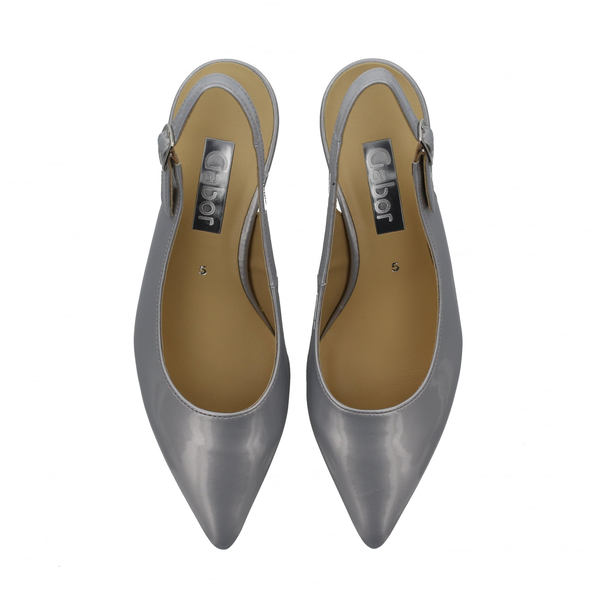 16cc78a2128 Gabor Hume II 81-550-96 Silver Womens Court Shoes