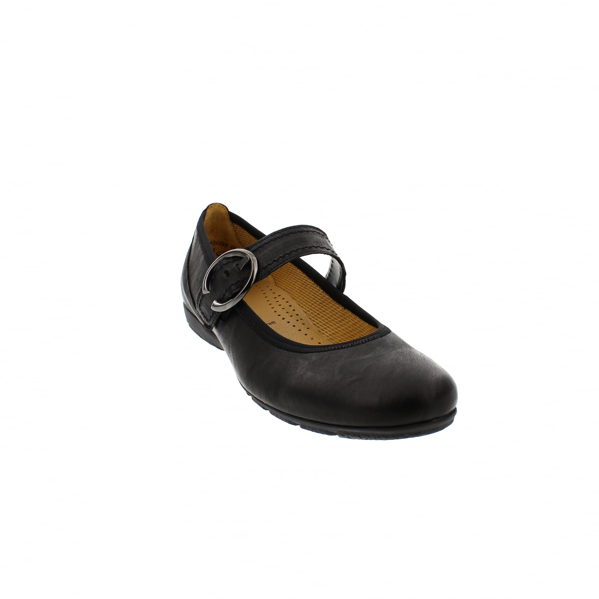 8af360e6cb Gabor Hutton 84-165-57 Black Leather Mary Jane Bar Shoes | Rogerson ...
