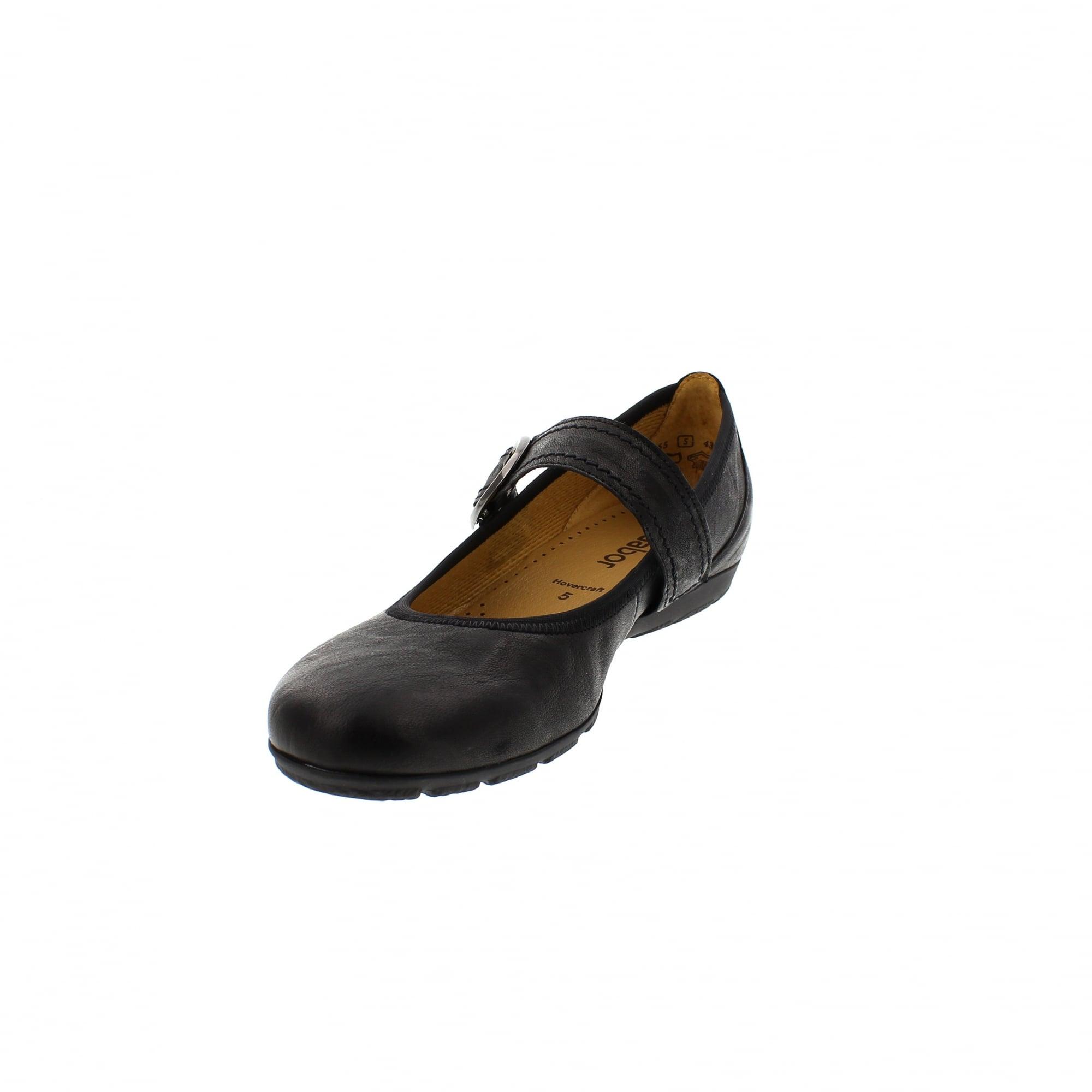 6b6ff31a0075b Gabor Hutton 84-165-57 Black Leather Mary Jane Bar Shoes | Rogerson ...
