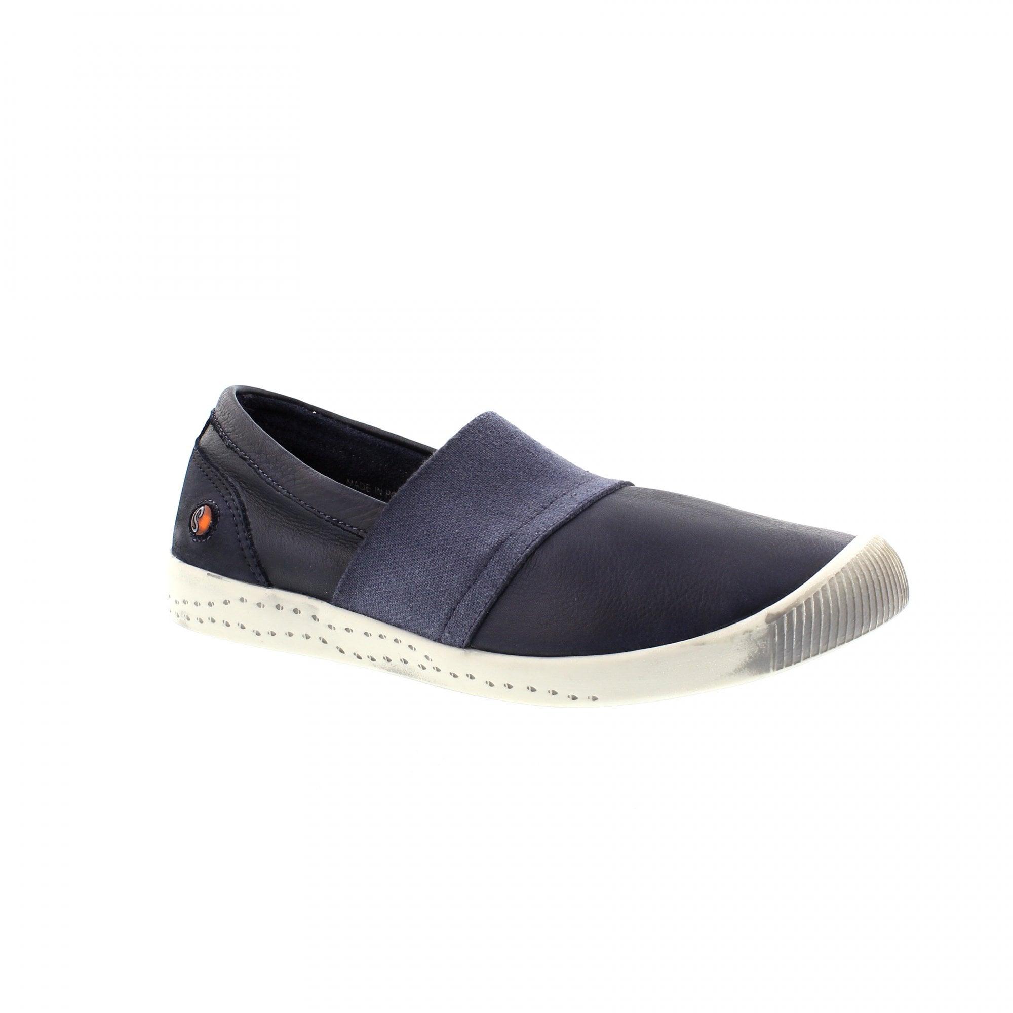 Softinos Ino Navy Leather Slip On