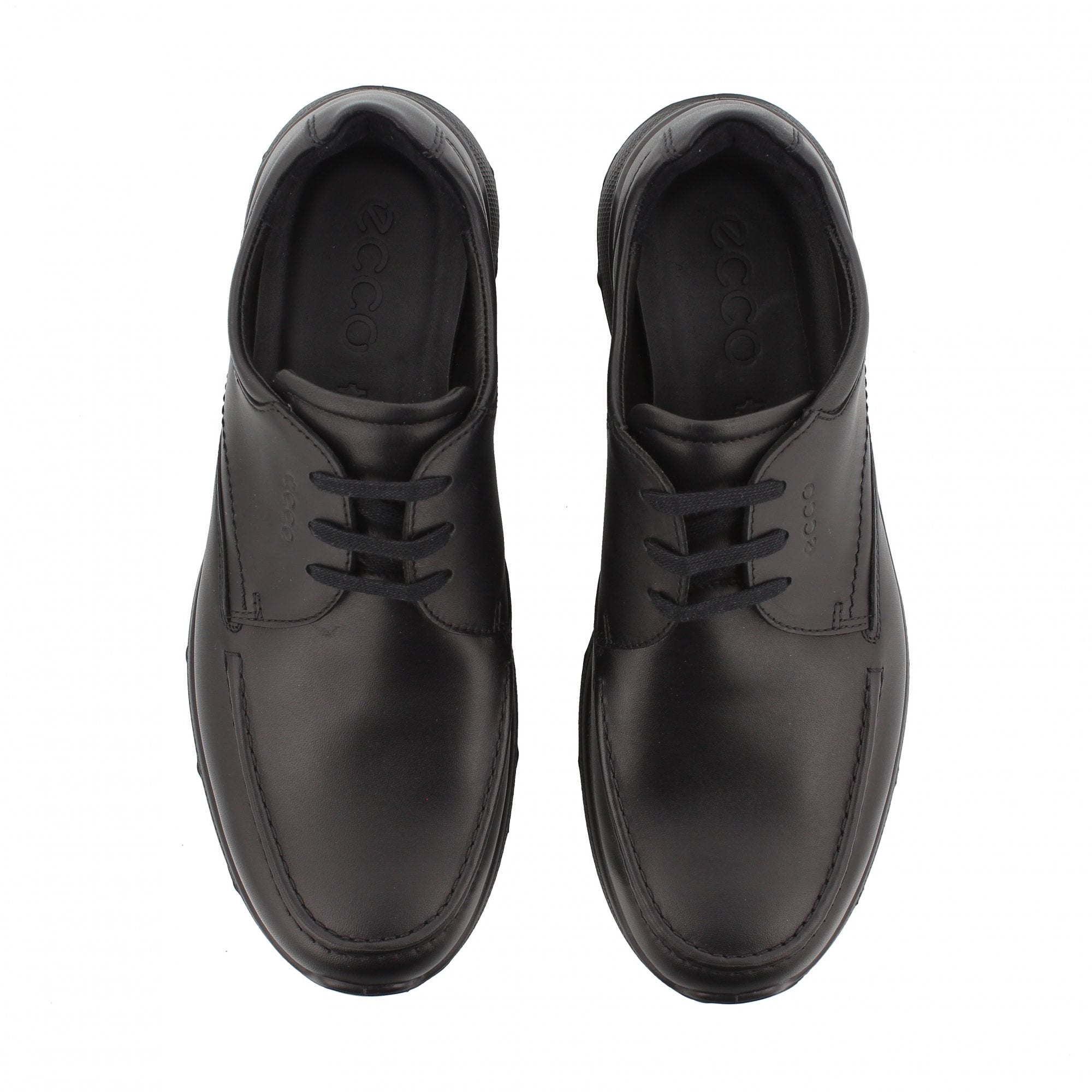 Ecco Irving Black Leather Mens Shoes