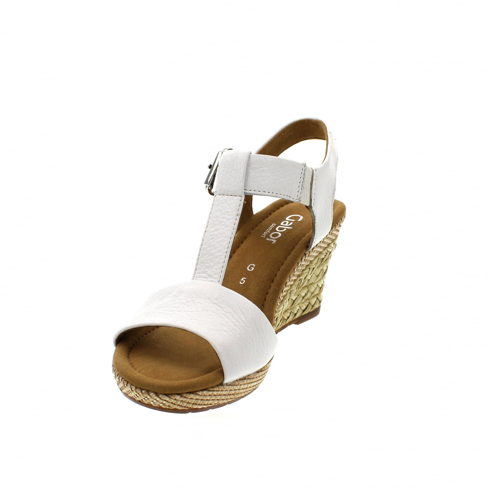 f1ce778c9 Gabor Karen 22-824-50 White Leather Womens Sandals