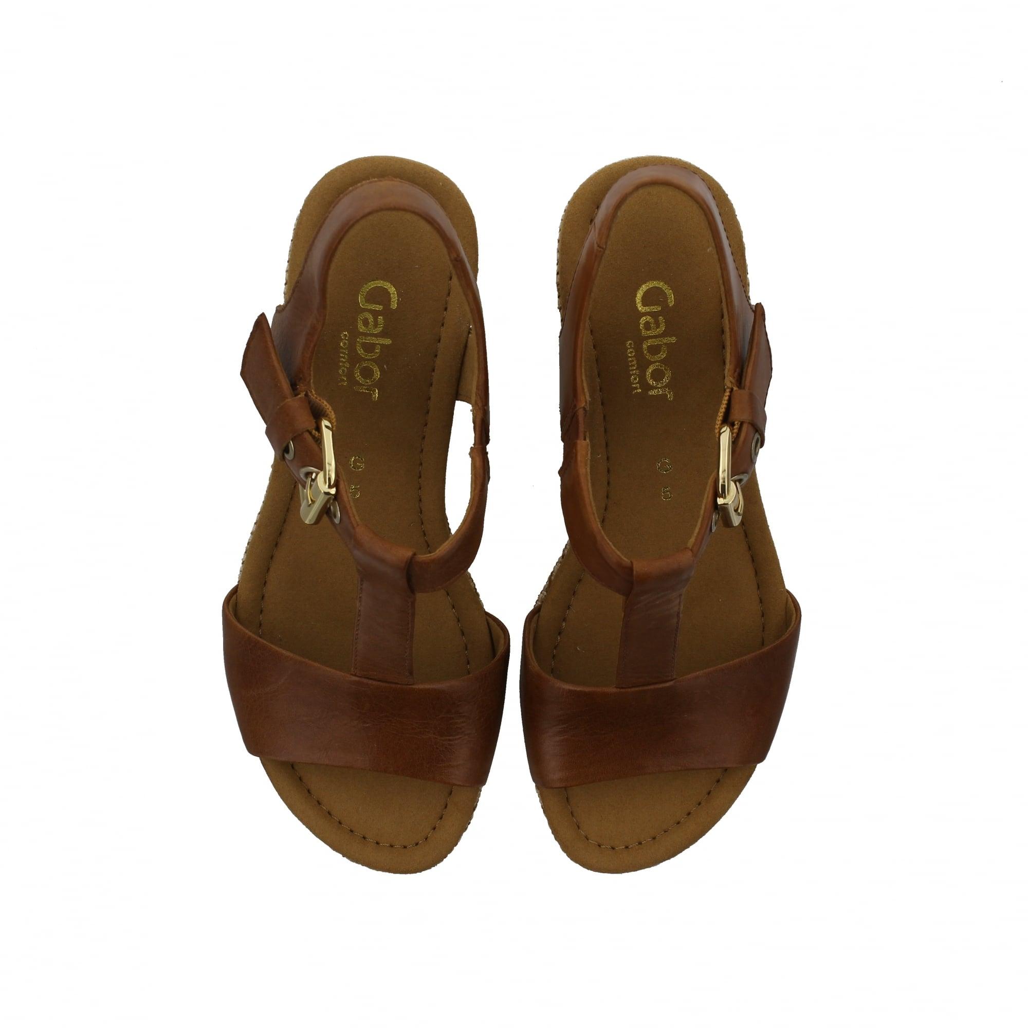 519a9c82e Gabor Karen 22-824-54 Tan Leather Womens Sandals