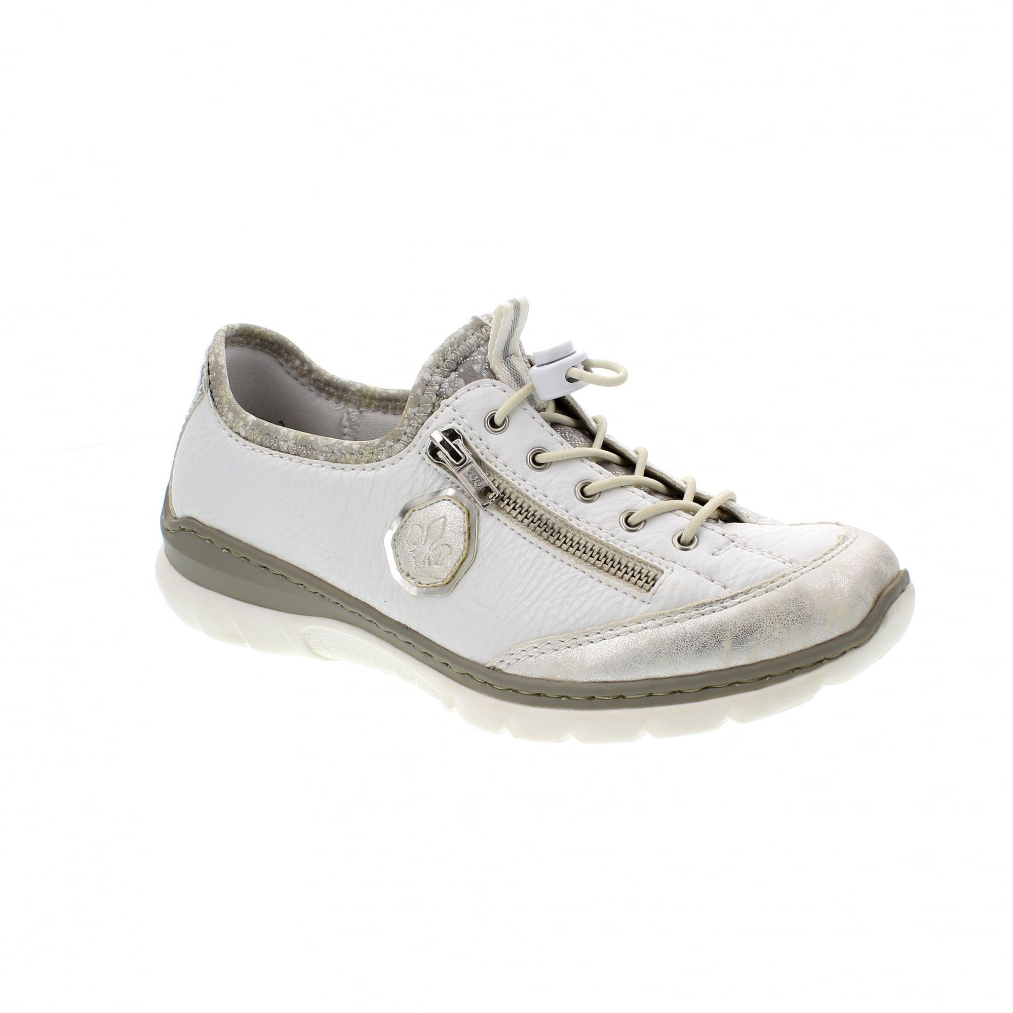 Rieker L3263-80 White/Silver Womens