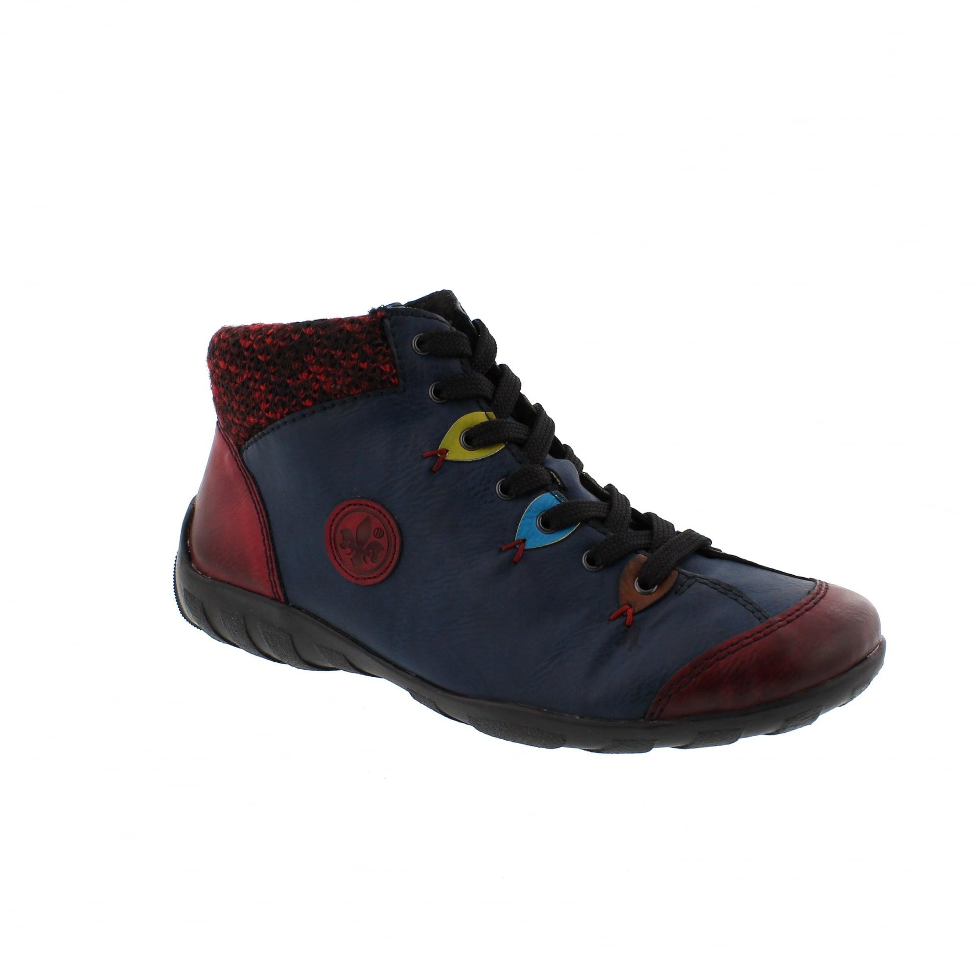 harmonische Farben neu billig reduzierter Preis Rieker L6513-36 Navy/Burgundy Womens Ankle Boots | Rogerson ...