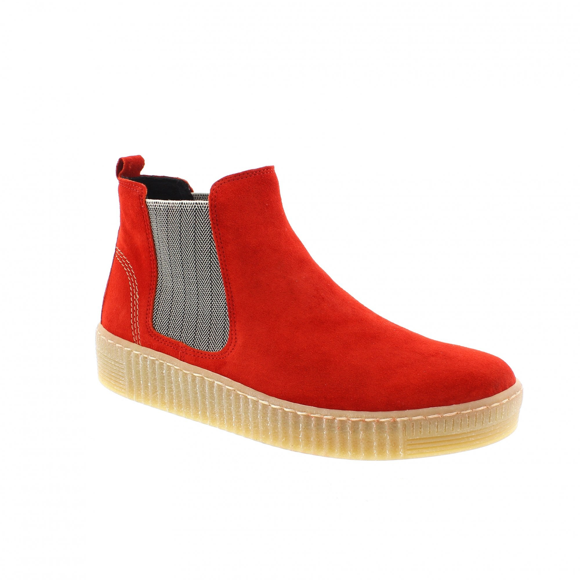 Gabor Lourdes Red Suede Ankle Boots 33