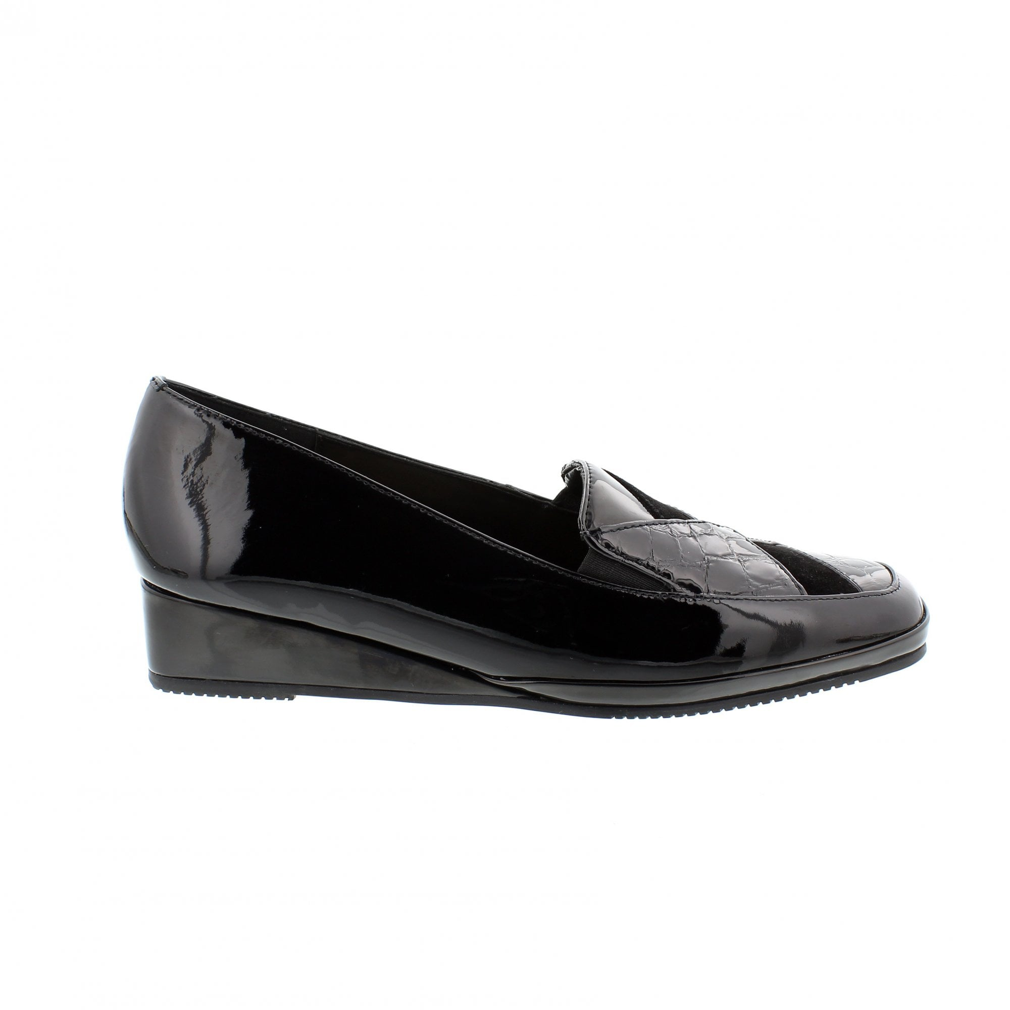 d25d5effbcded Van Dal Lyon 1517160 Black Patent Slip On Shoes | Rogerson Shoes