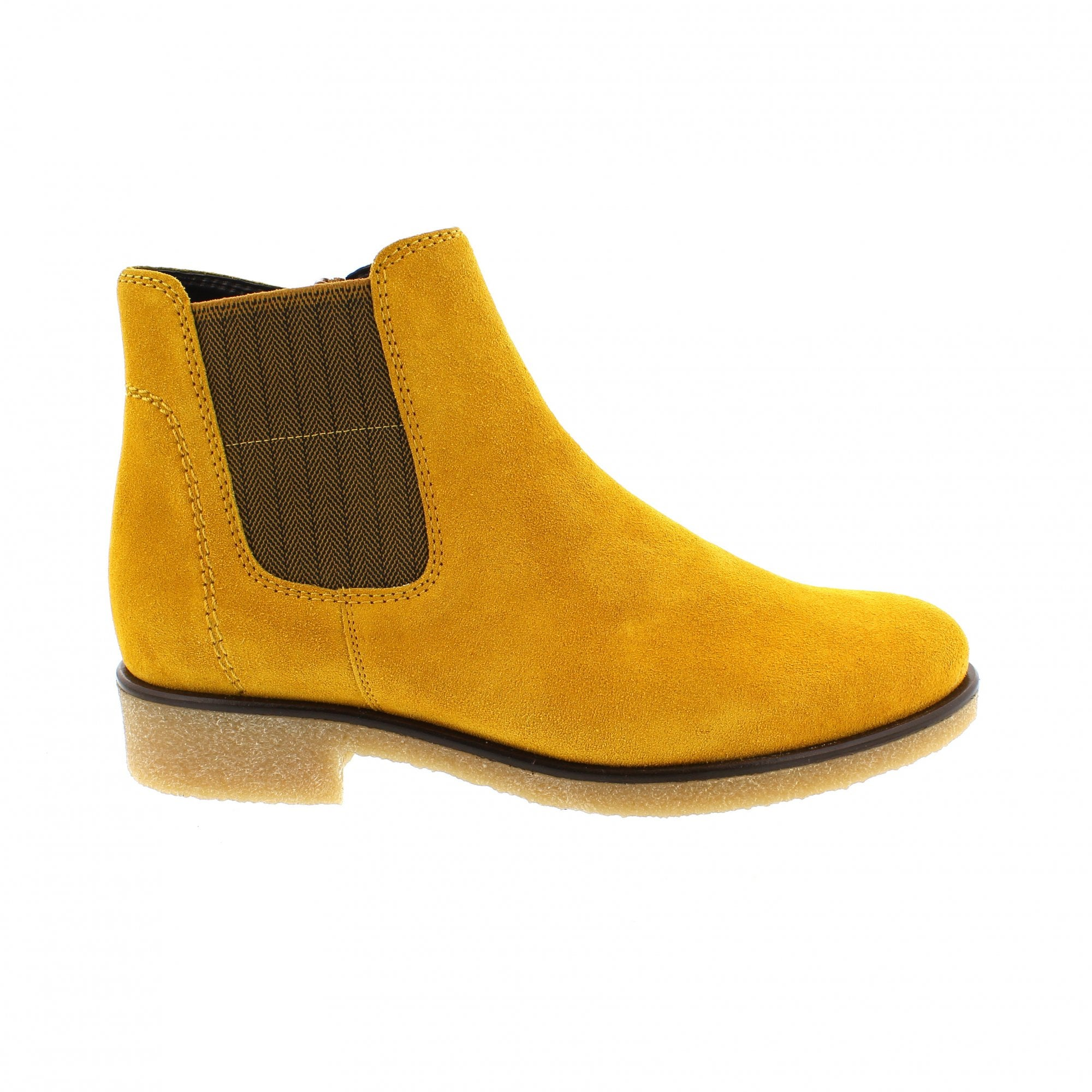 Gabor Maeve Yellow Suede Womens Chelsea