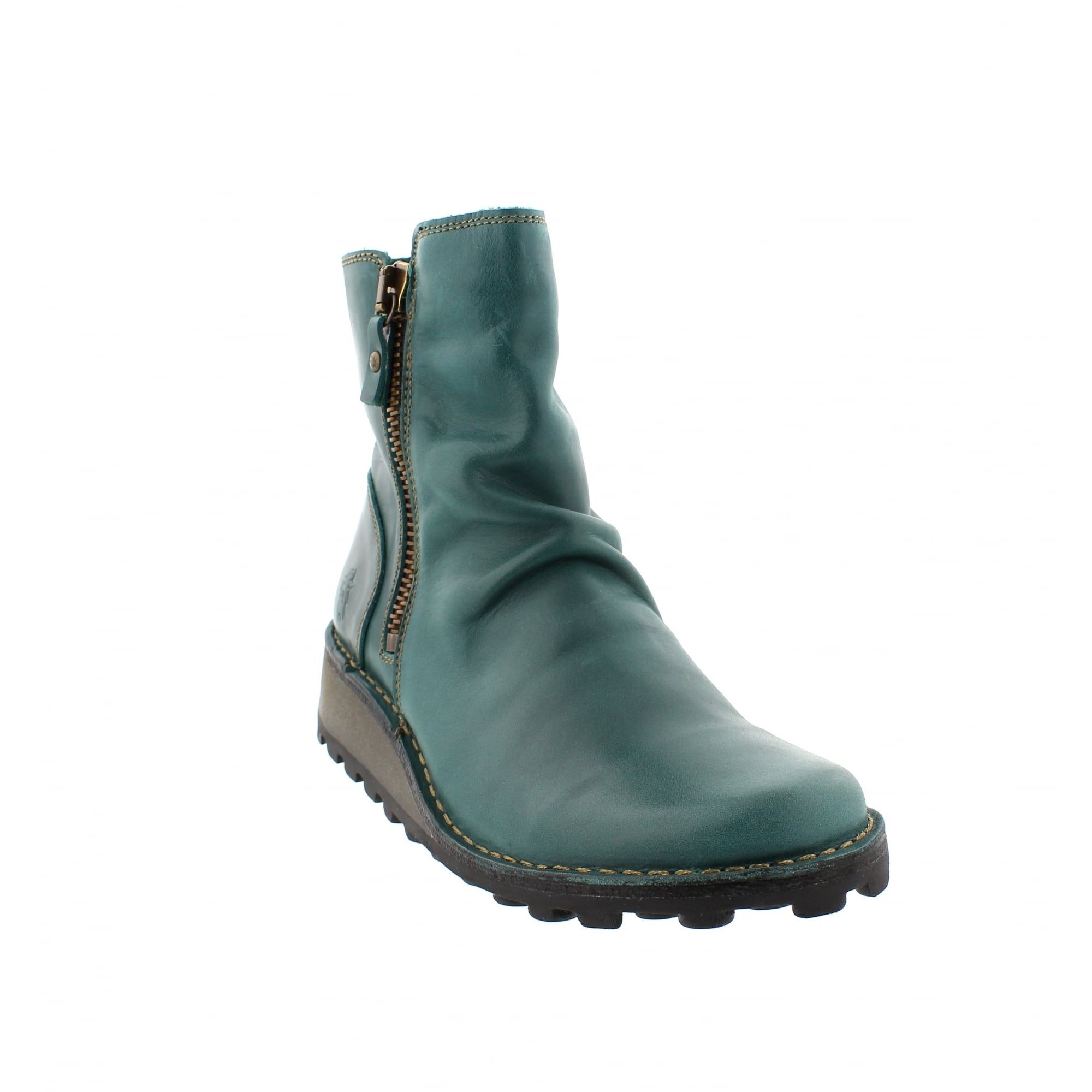 Fly London Mong Boots Blue Leather