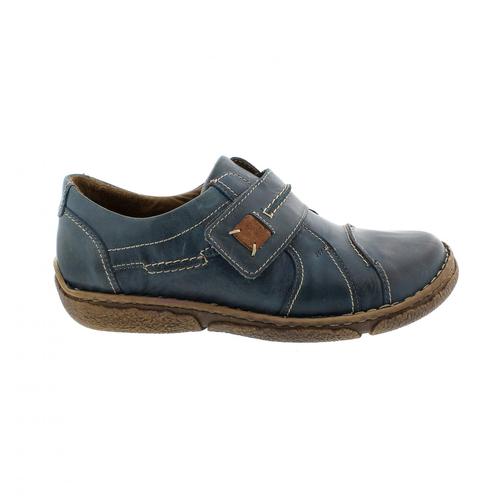 3930e7a1 Josef Seibel Neele 4 Teal Womens Velcro Shoes   Rogerson Shoes