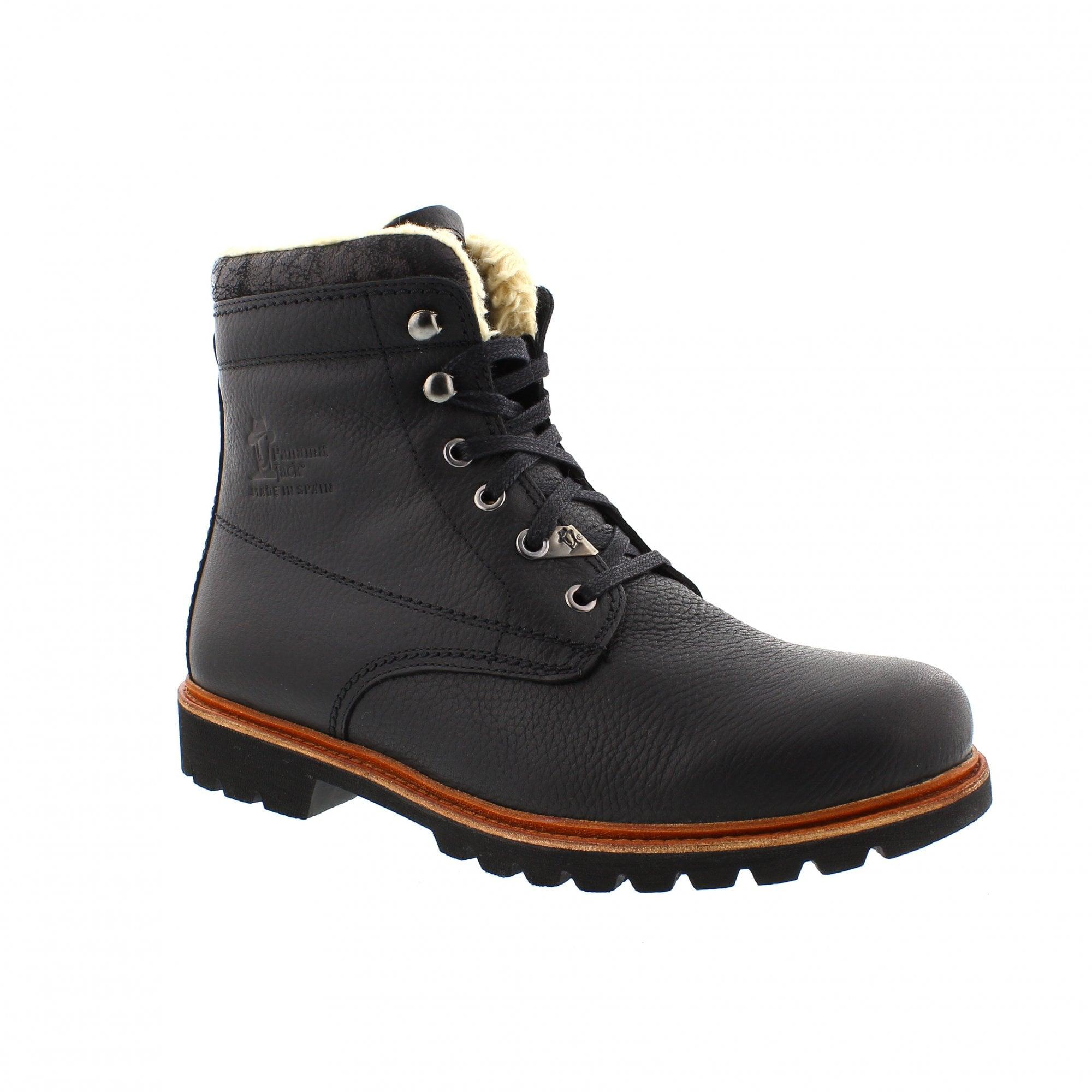 b6fe03f78ed Panama Jack 03 Aviator C2 Napa Grass Negro Black Ankle Boots