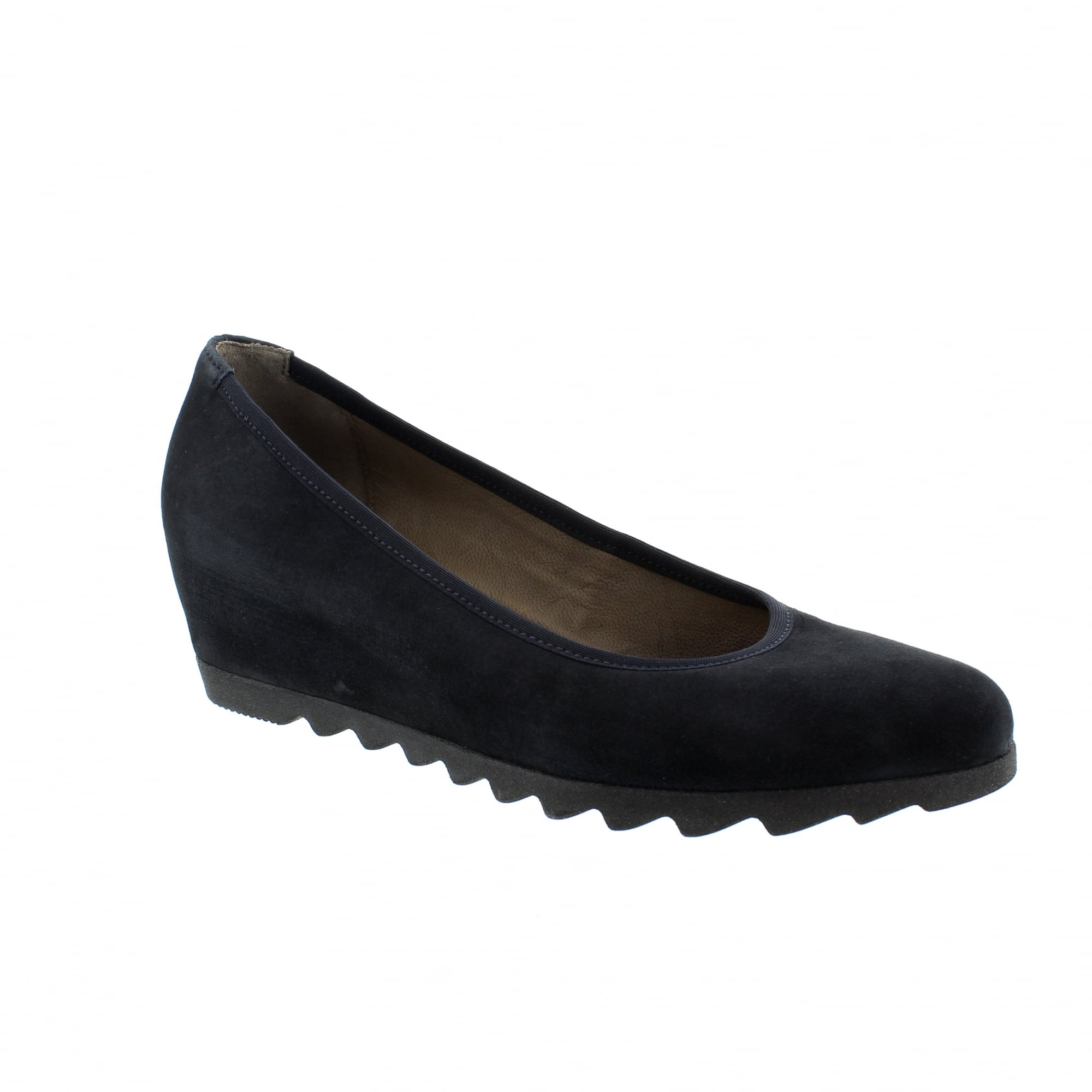 4e3c0cb580 Gabor Request 25-320-16 Navy Suede Womens Wedge Pumps | Rogerson Shoes