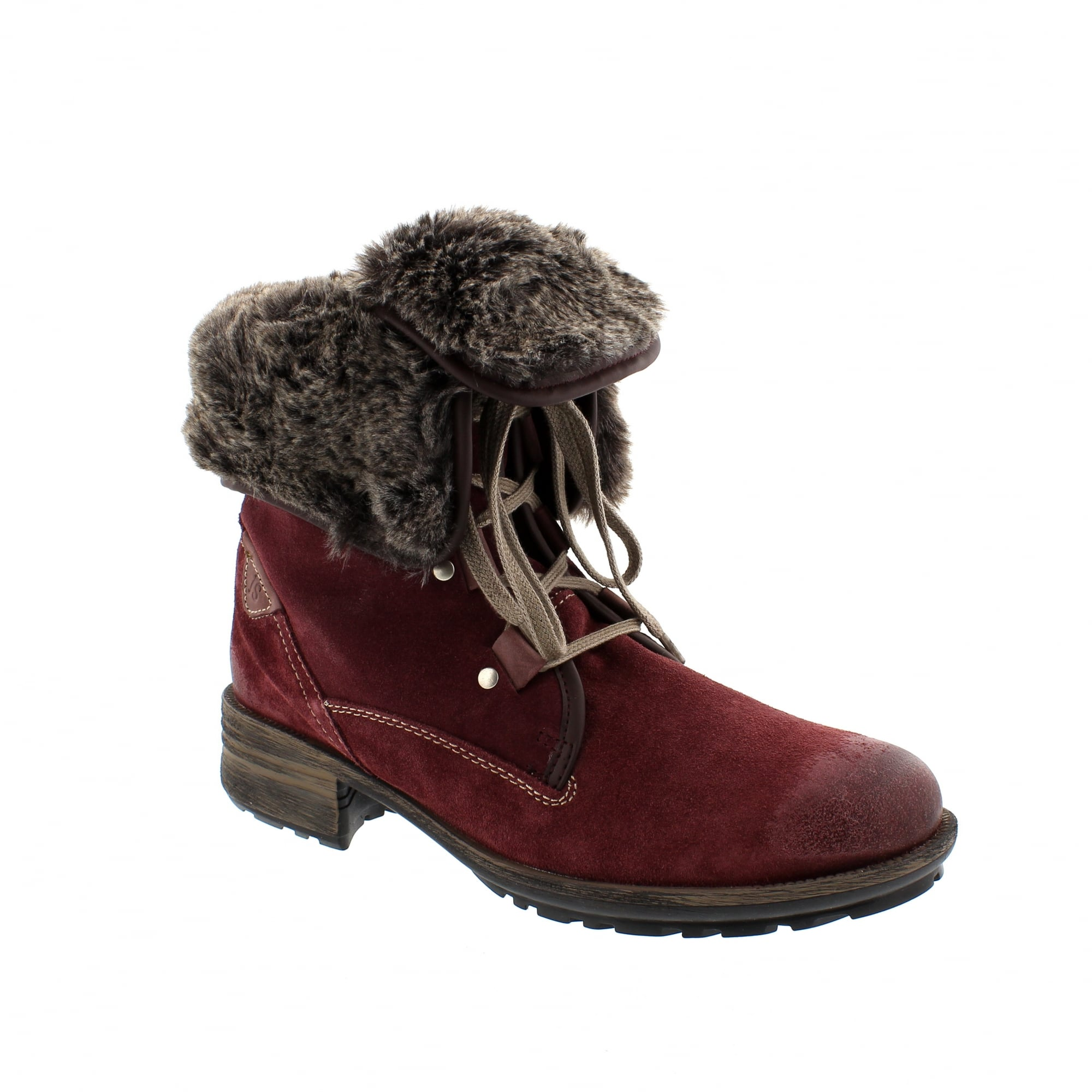 6bd29ee6303a7 Josef Seibel Sandra 04 Burgundy Suede Womens Ankle Boots | Rogerson ...